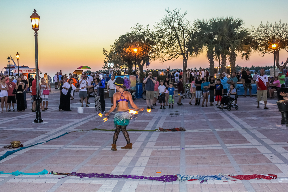 Mallory Square sunset party, Florida