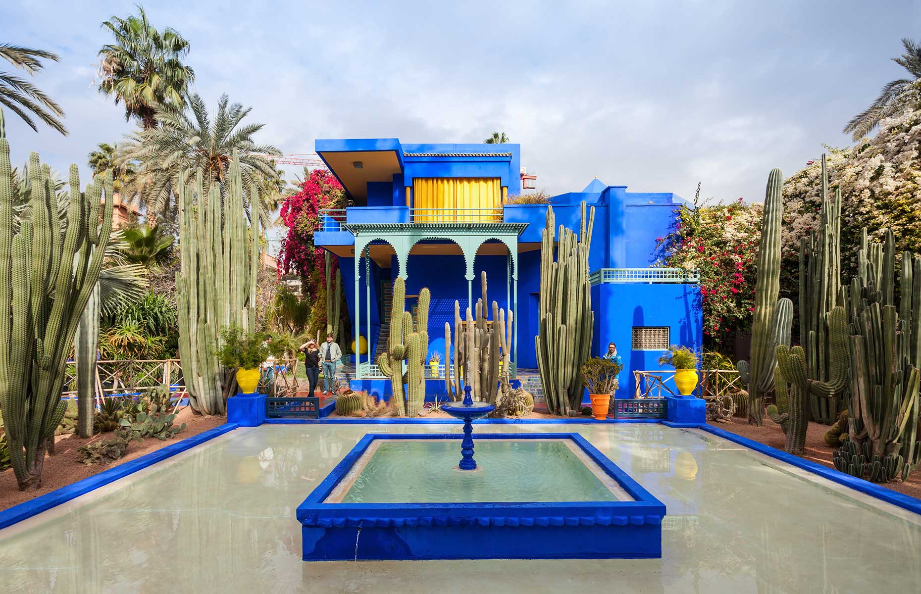 Cobalt Blue Jardin de Majorelle in Marrakech Morocco