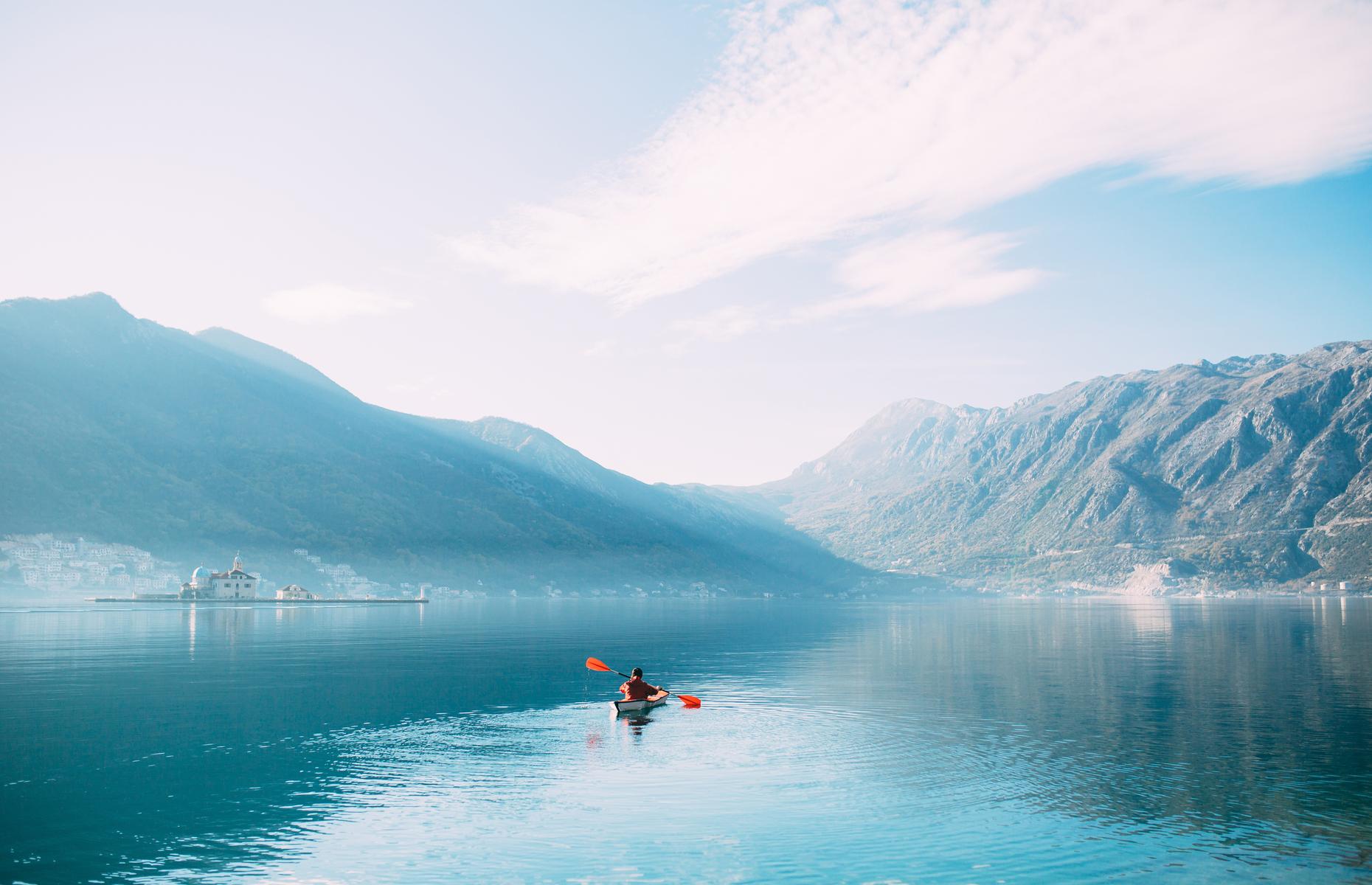 Kayaking in the Bay of Kotor