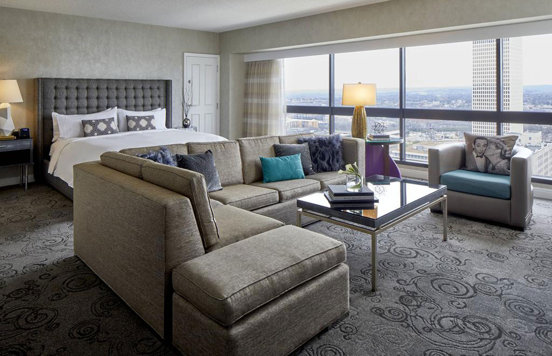 A suite at the Renaissance Nashville Hotel