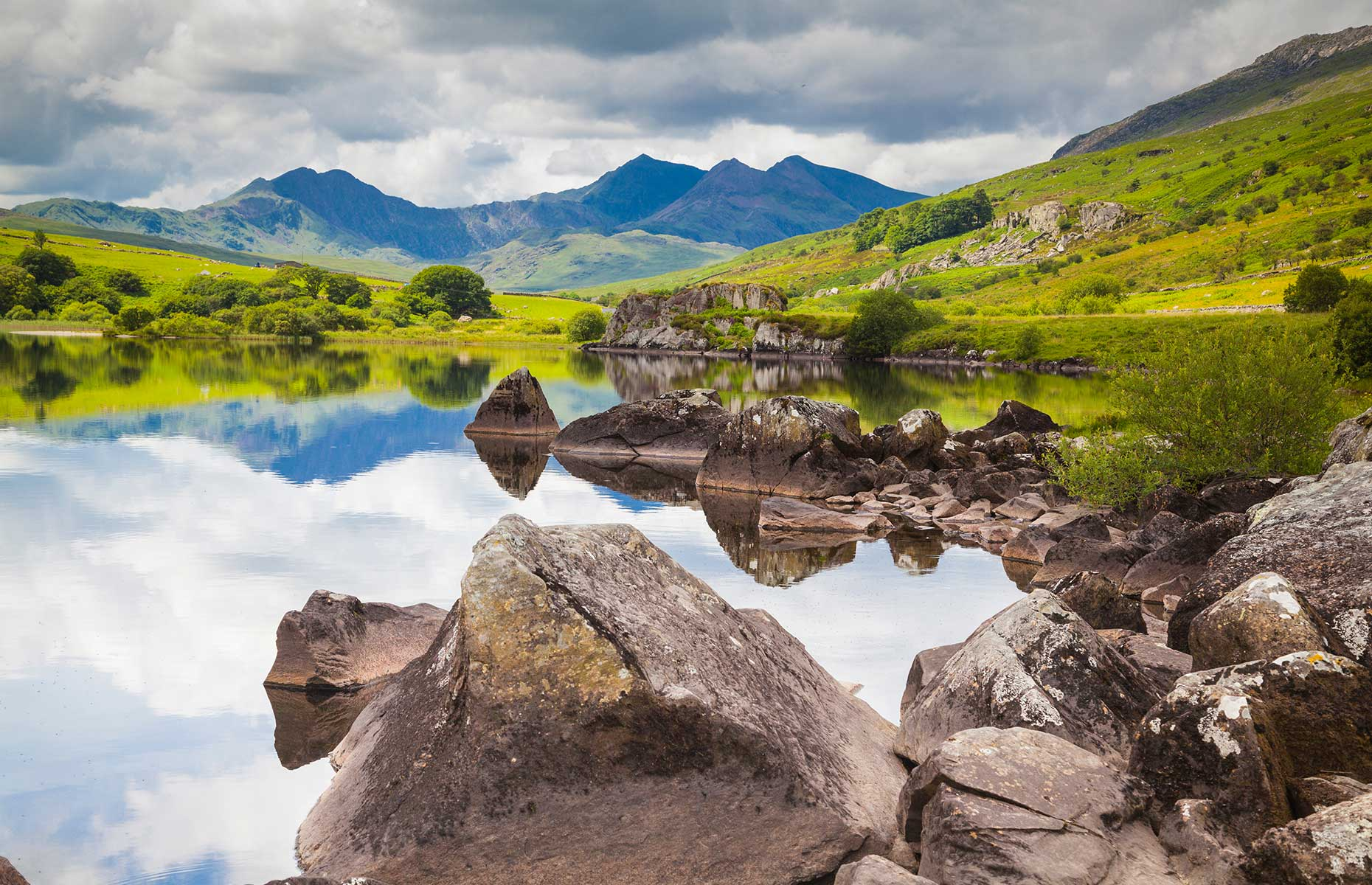 View towards Mount Snowdon, Wales
