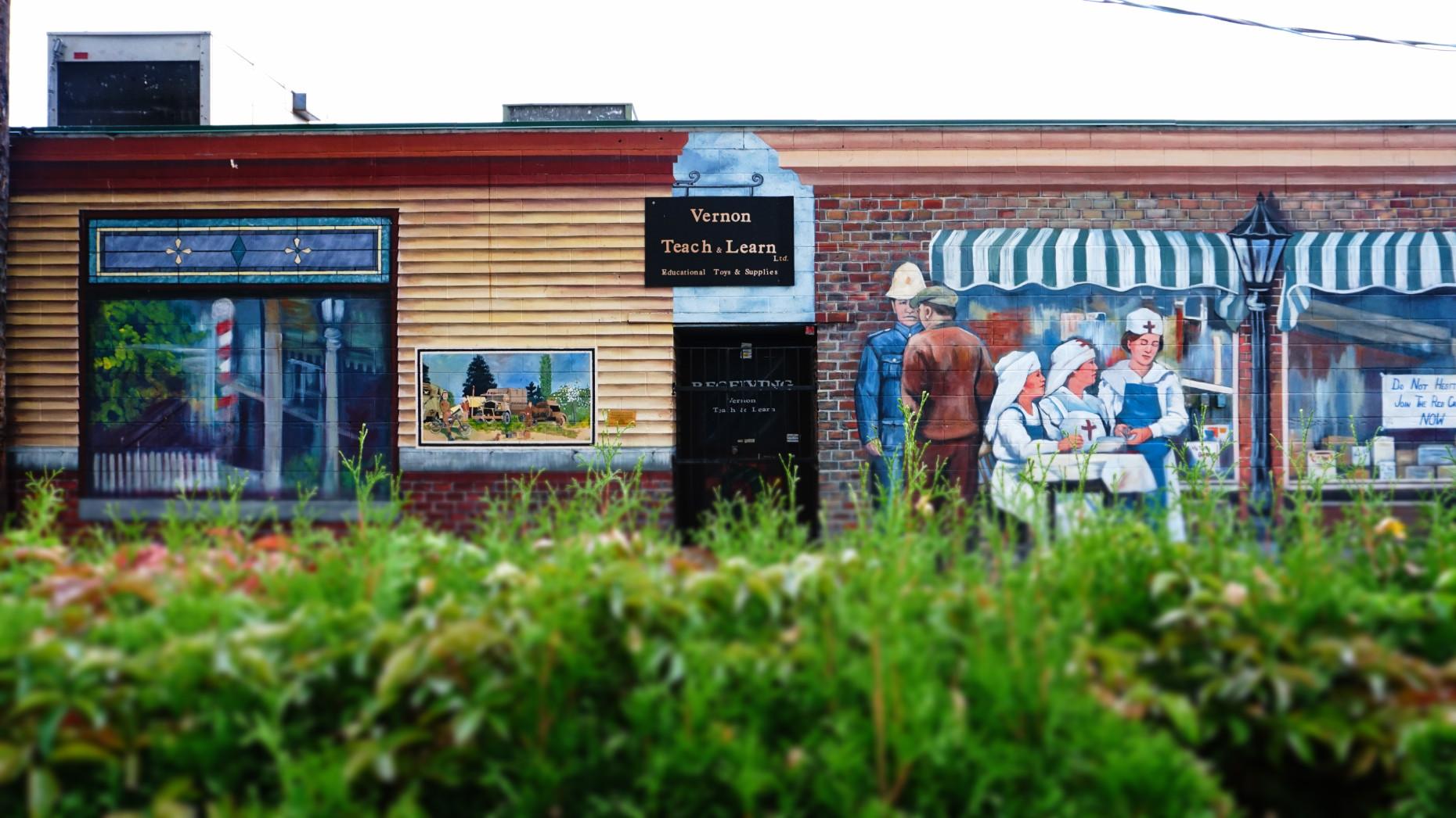 Vernon murals, Okanagan, Canada