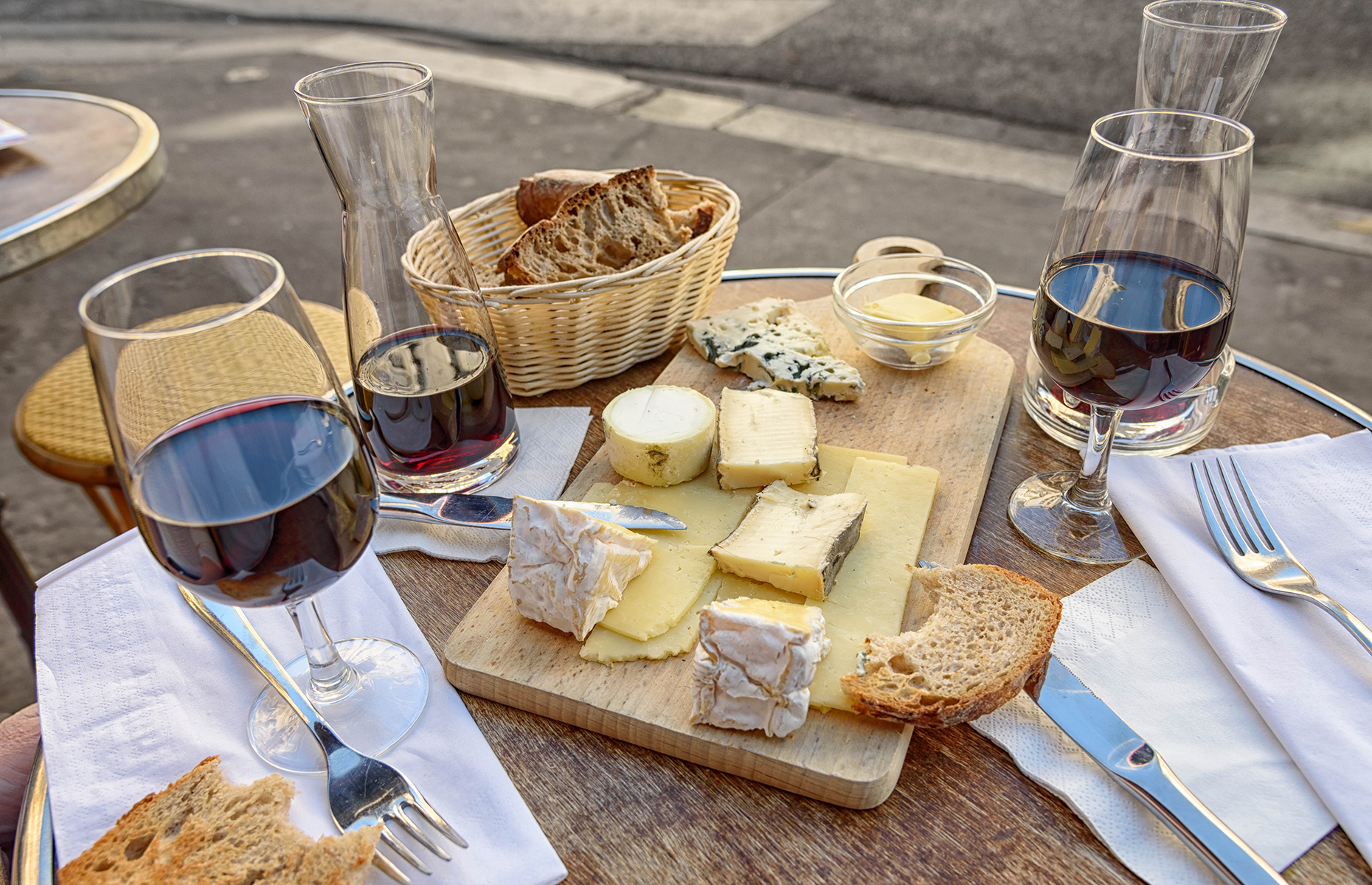 Cheese and wine in Paris