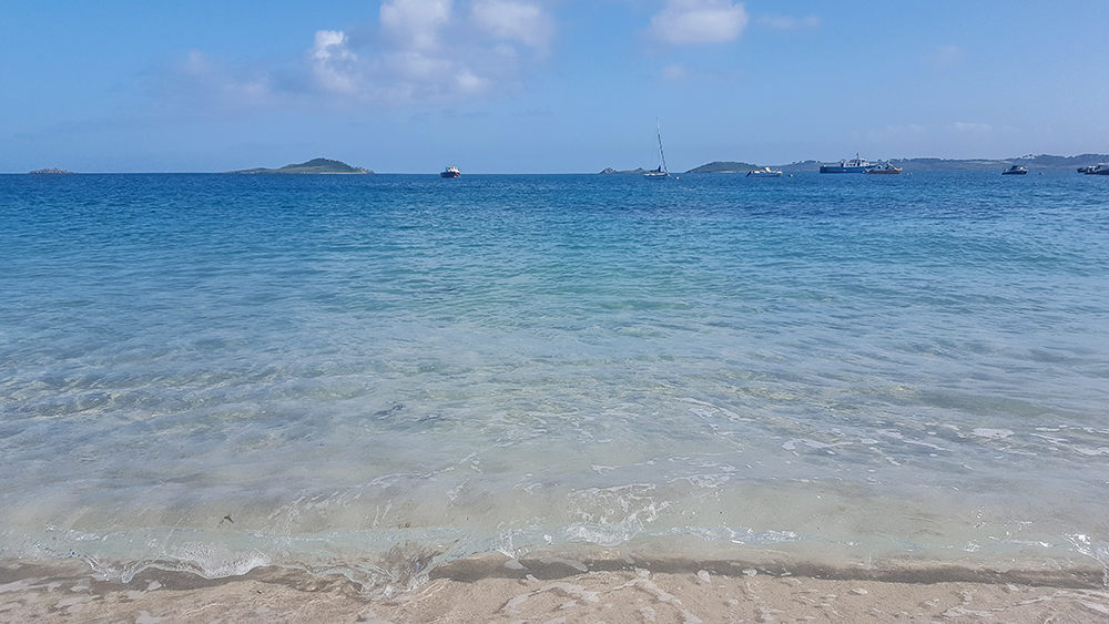 Crystalline waters of St Martin's, Scilly Isles