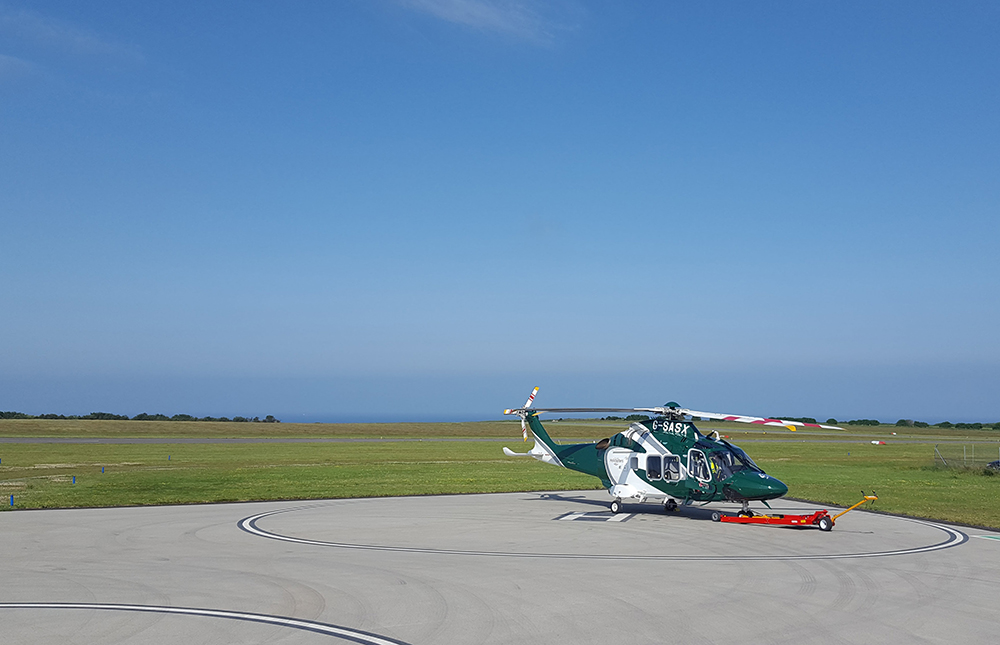 Helicopter to the Isles of Scilly