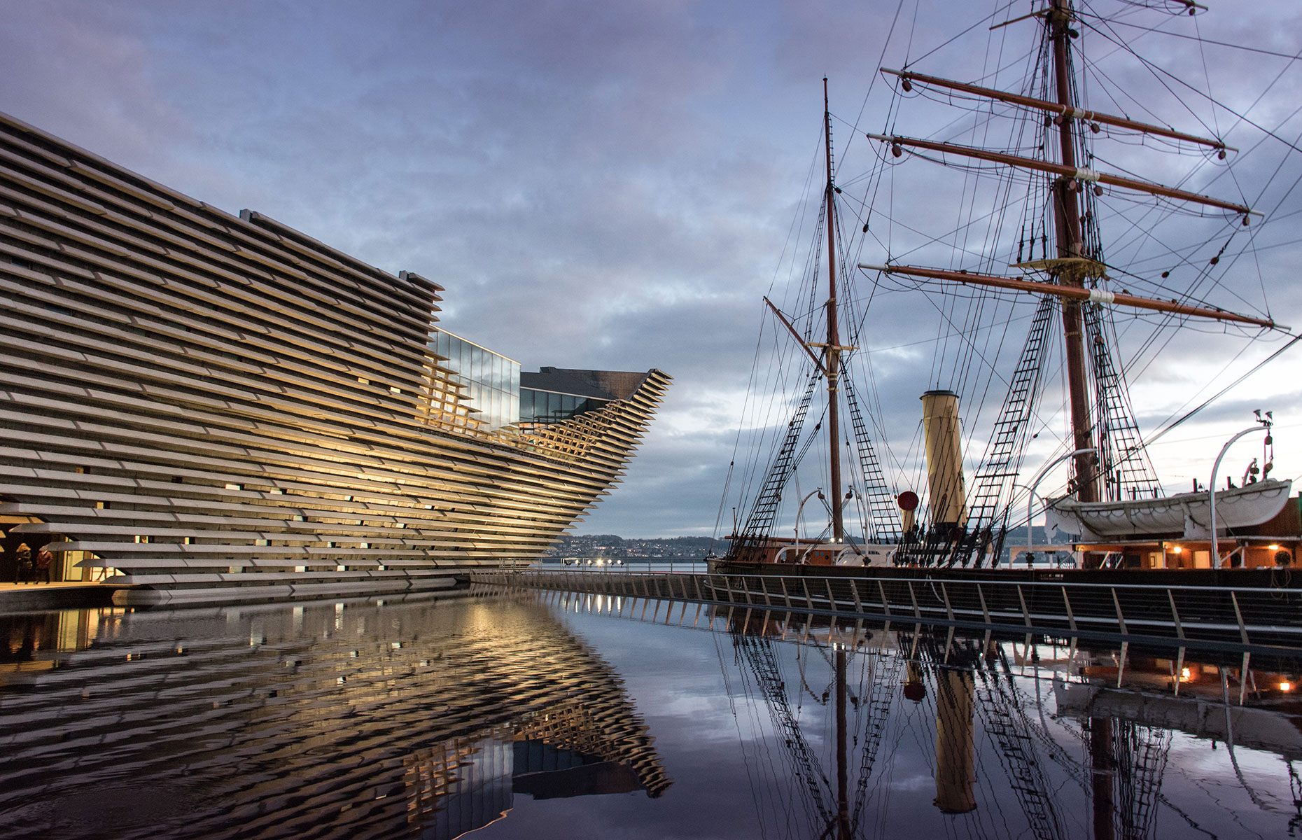 Dundee's waterfront with the RRS Discovery and the V&A Dundee museum (Image: Robin MacGregor/Shutterstock)