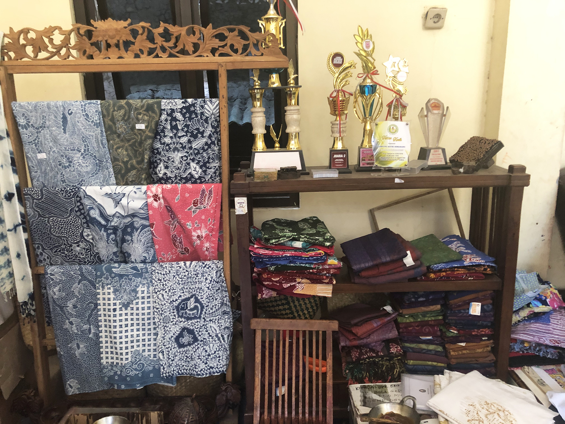 Examples of batik (Image: Daisy Meager)