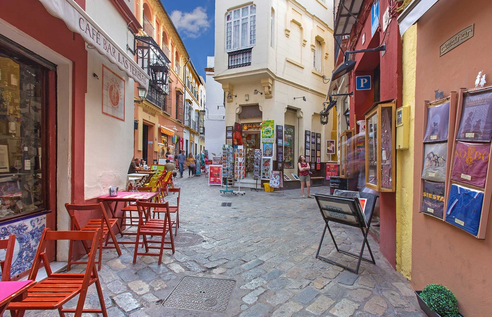 Santa Cruz in Seville offer tiny backstreets and pretty squares