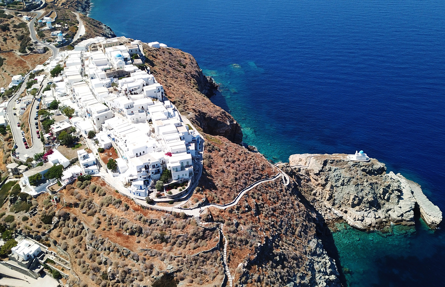 Kastro village on Sifnos (Image: Aerial-motion/Shutterstock)