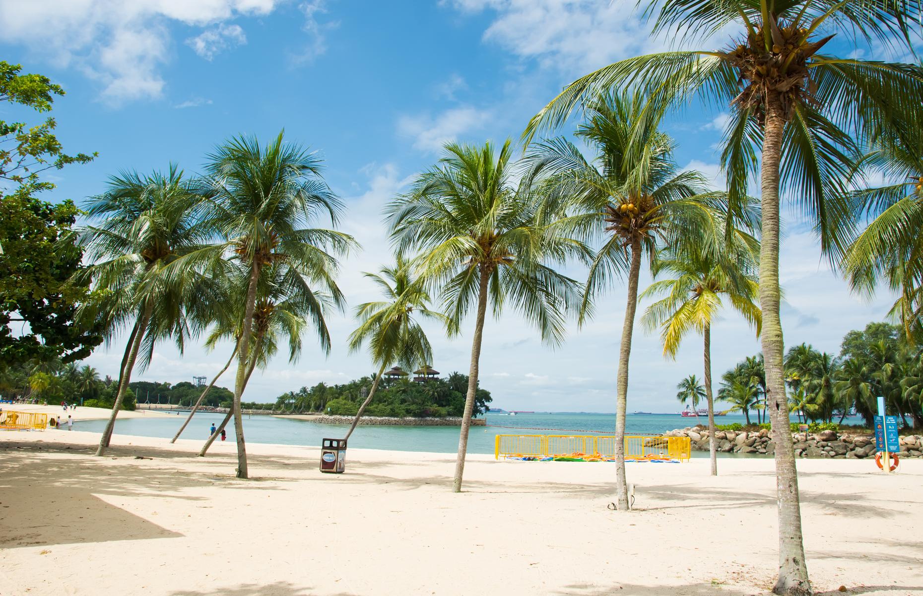 Palawan Beach on Sentosa Island