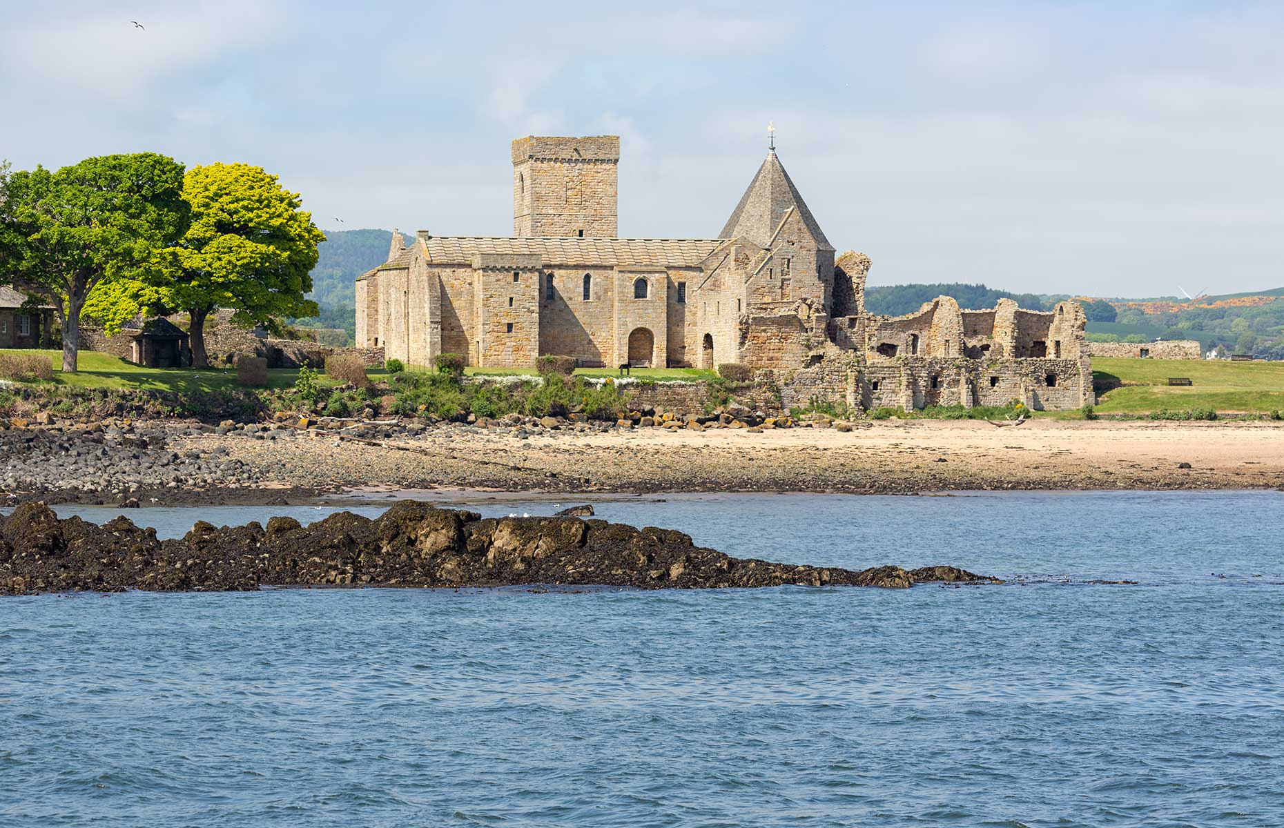 Abbey at the isle of Inchcolm near South Queensferry, Edinburgh, Scotland (Image: T.W. van Urk/Shutterstock)