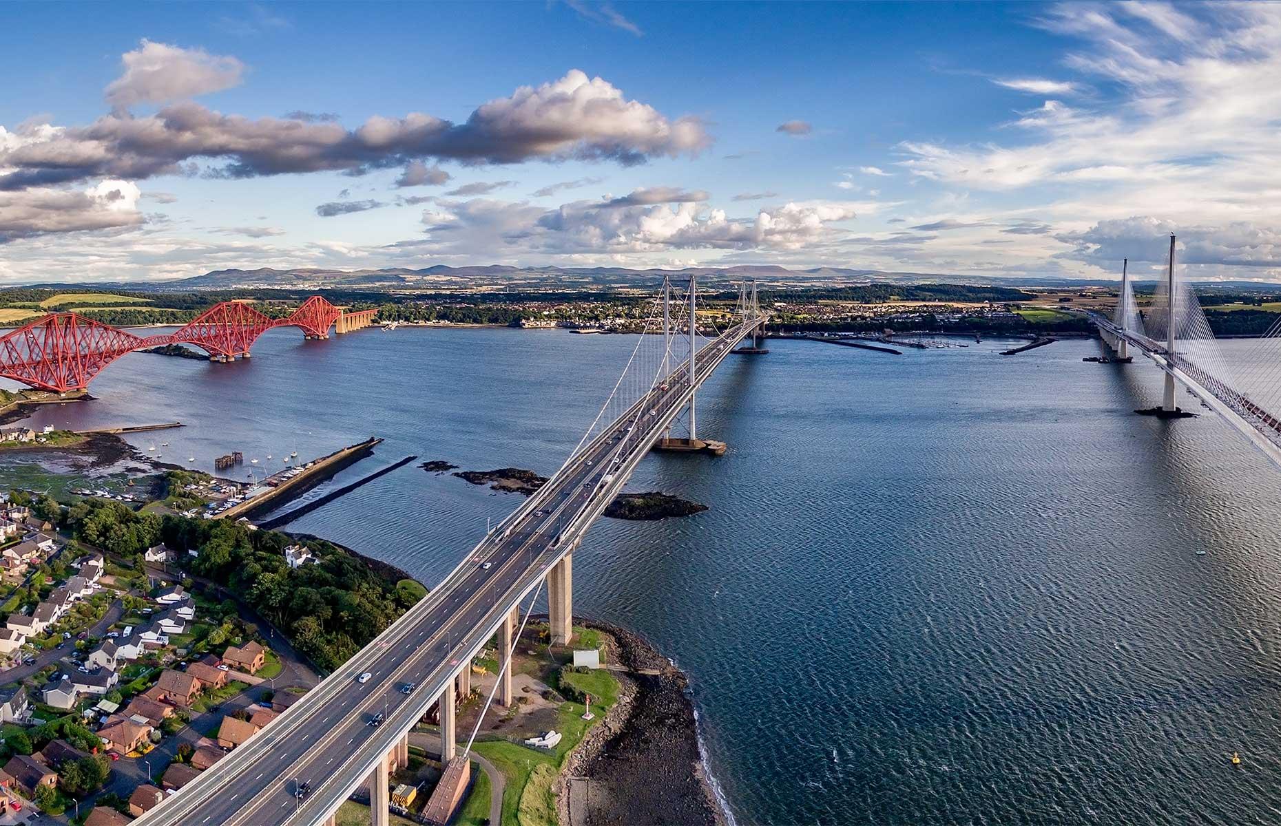 Three bridges at South Queensferry, Scotland (Image: Ulmus Media/Shutterstock)