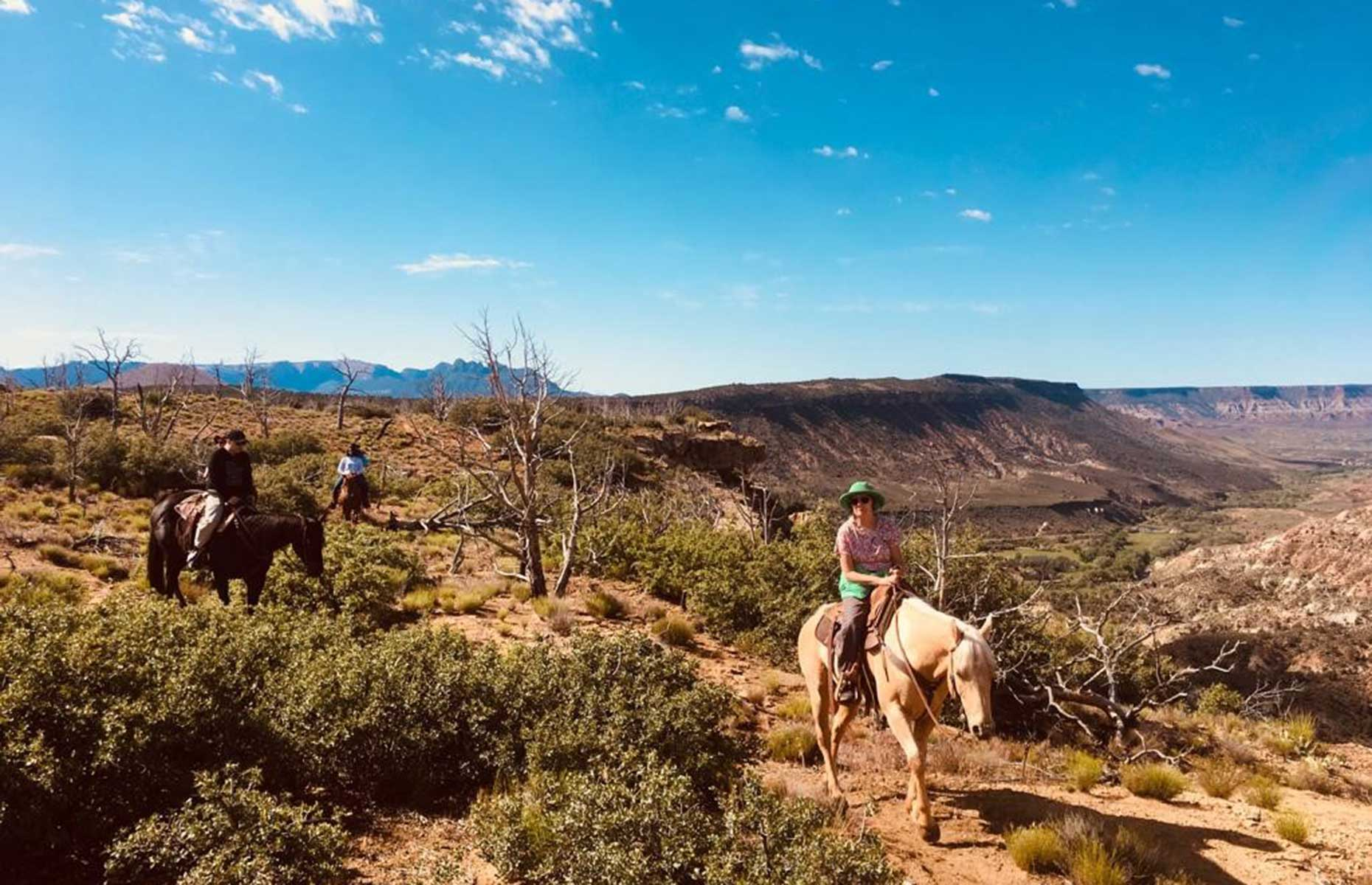Horseback riding in the Kolob Terrace, Utah