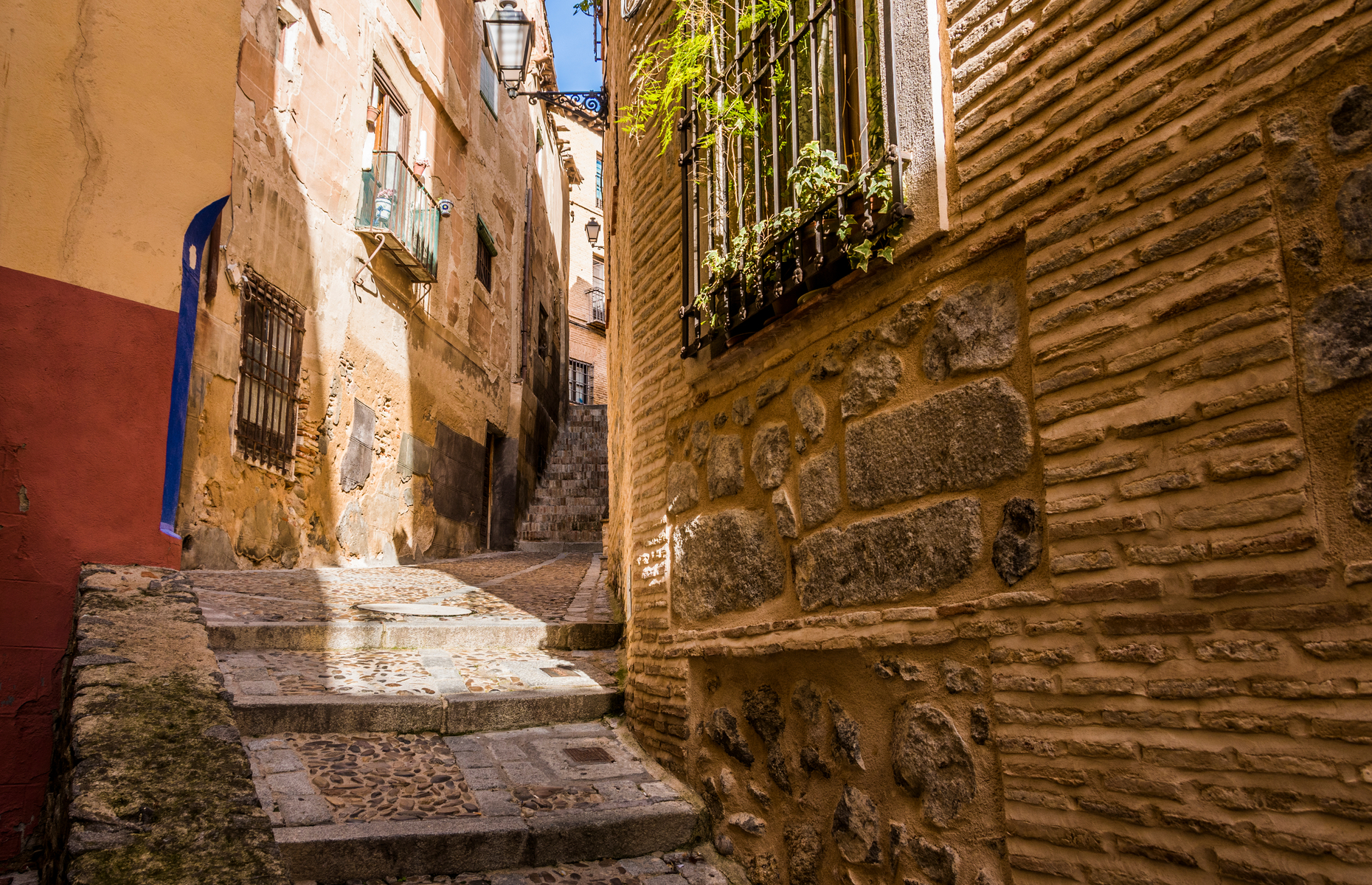 Cobbled streets in Toledo