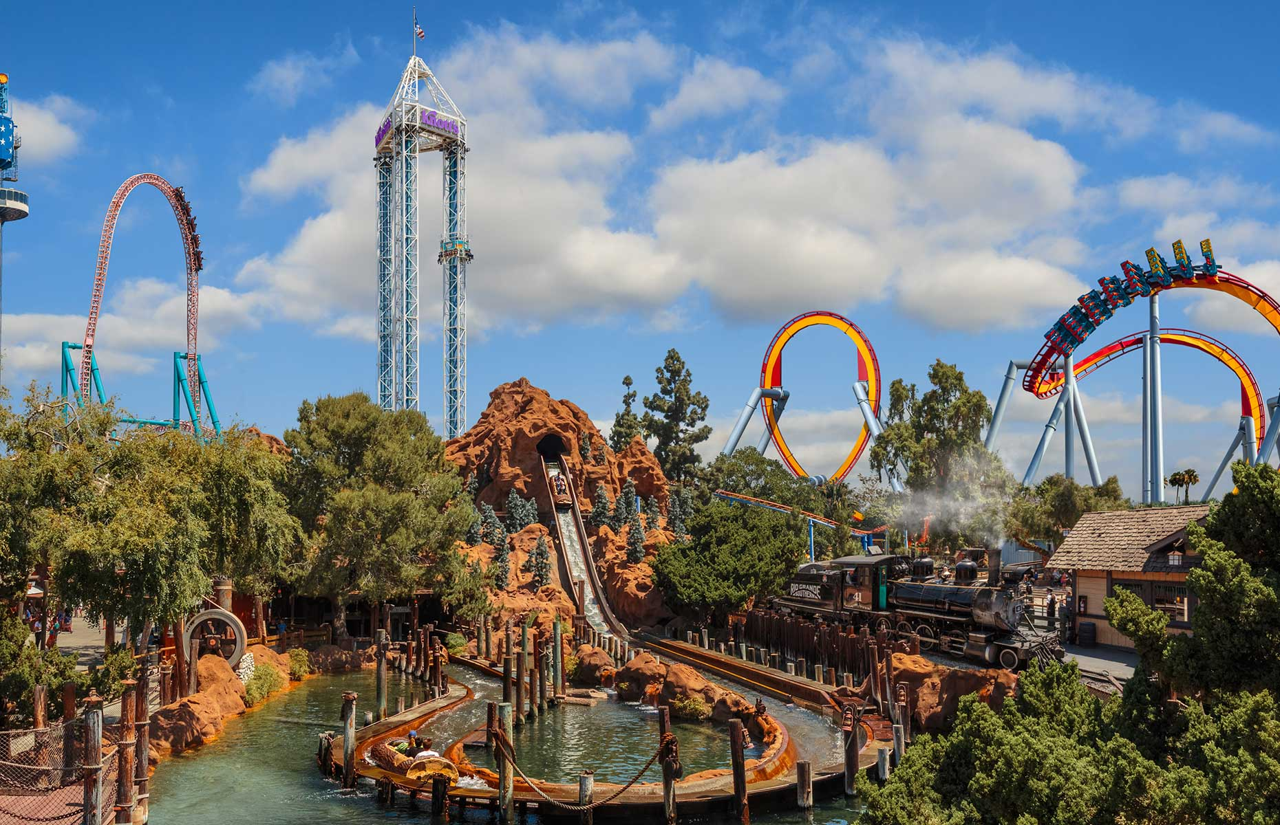 Knott's Berry Farm theme park in Anaheim, California