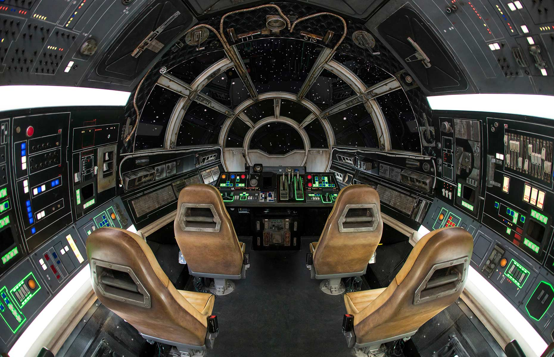 Millennium Falcon, Smuggler's Run ride at Disneyland, Anaheim, California