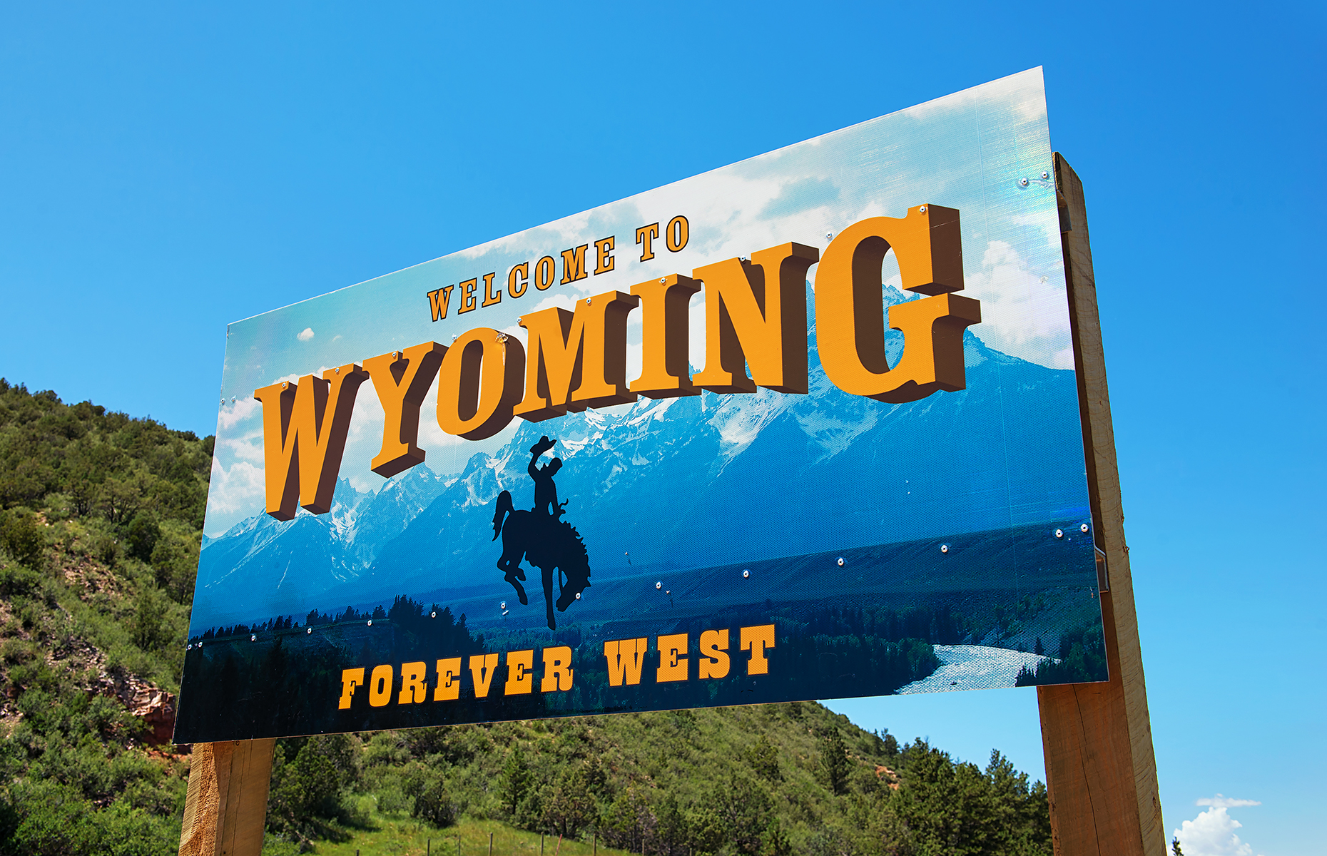 Wyoming state sign