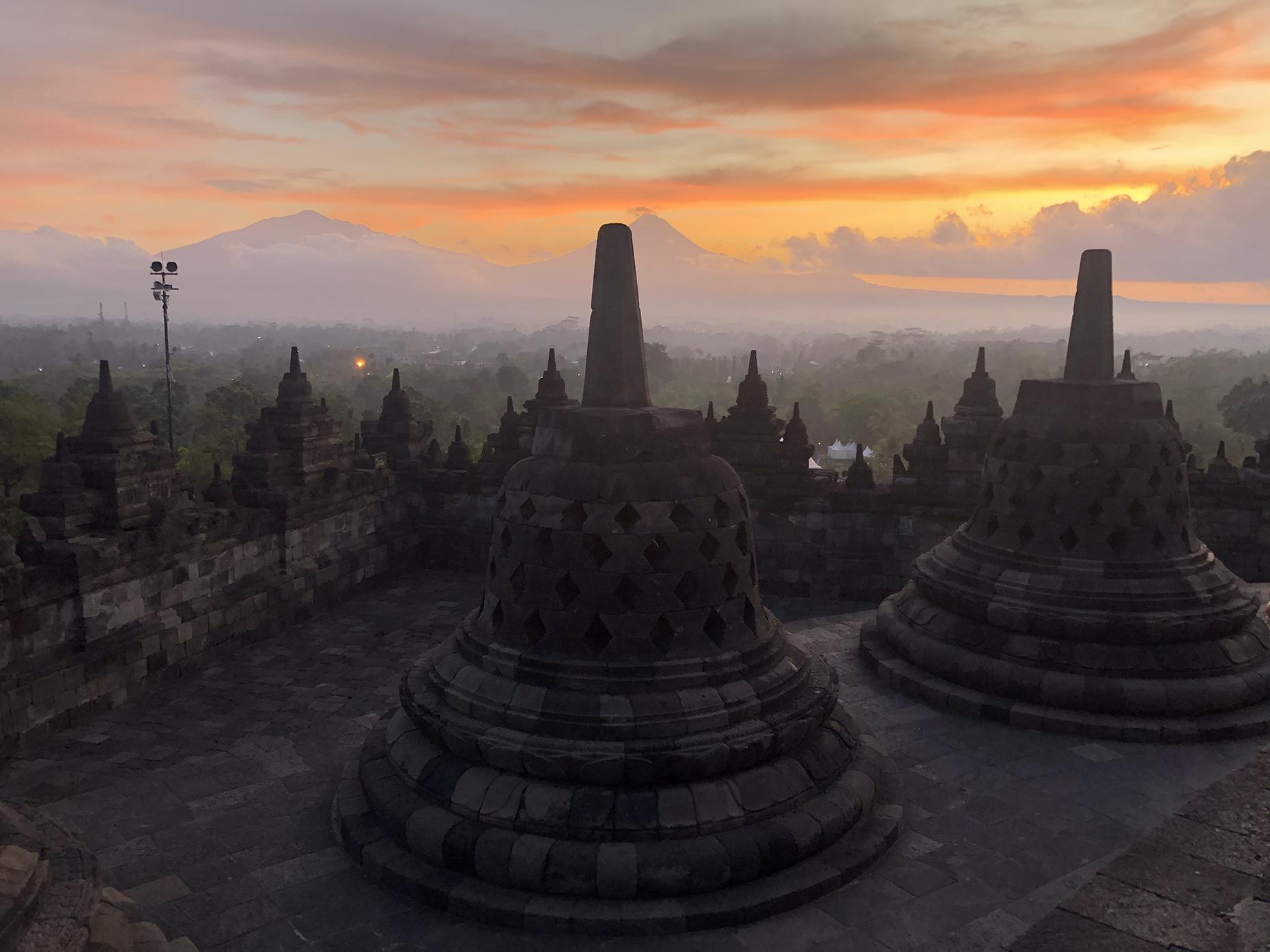 Borobodur at sunrise (Image: Daisy Meager)