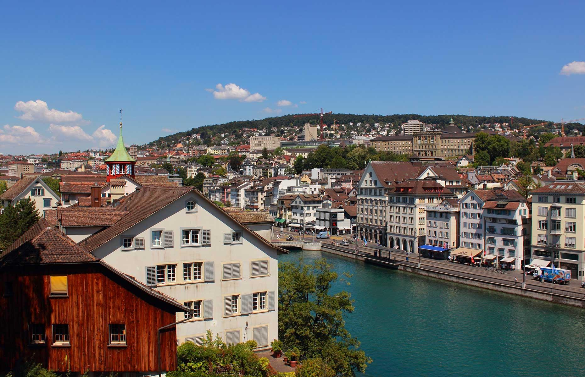 View from Lindenhof, Zurich