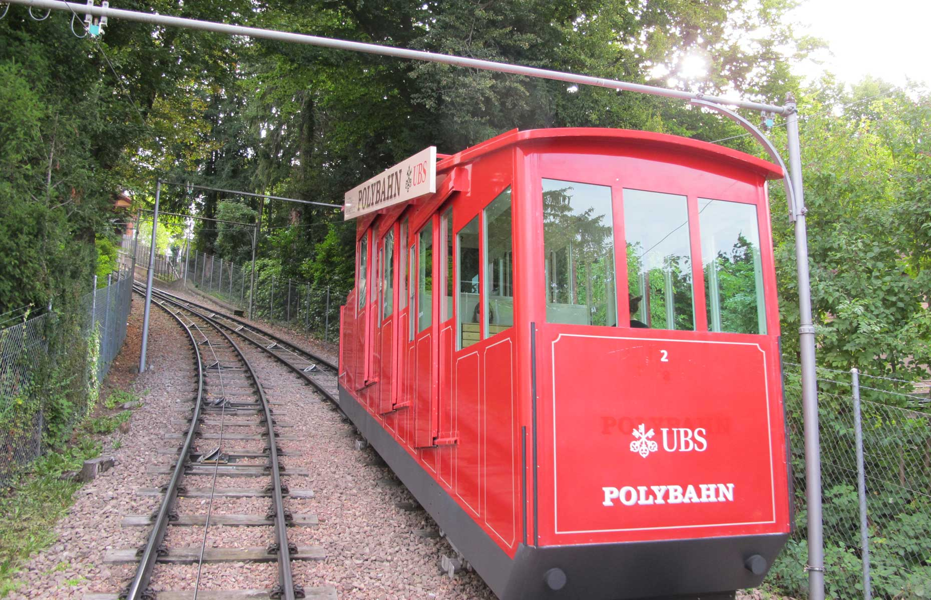 Zurich's funicular known as the Polybahn