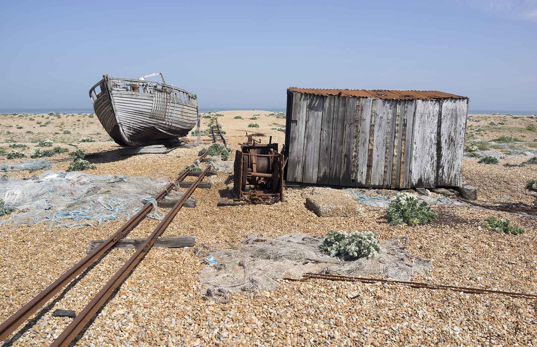 Dungeness, deserted beach, Kent (Image: Tim Bird/Shutterstock)