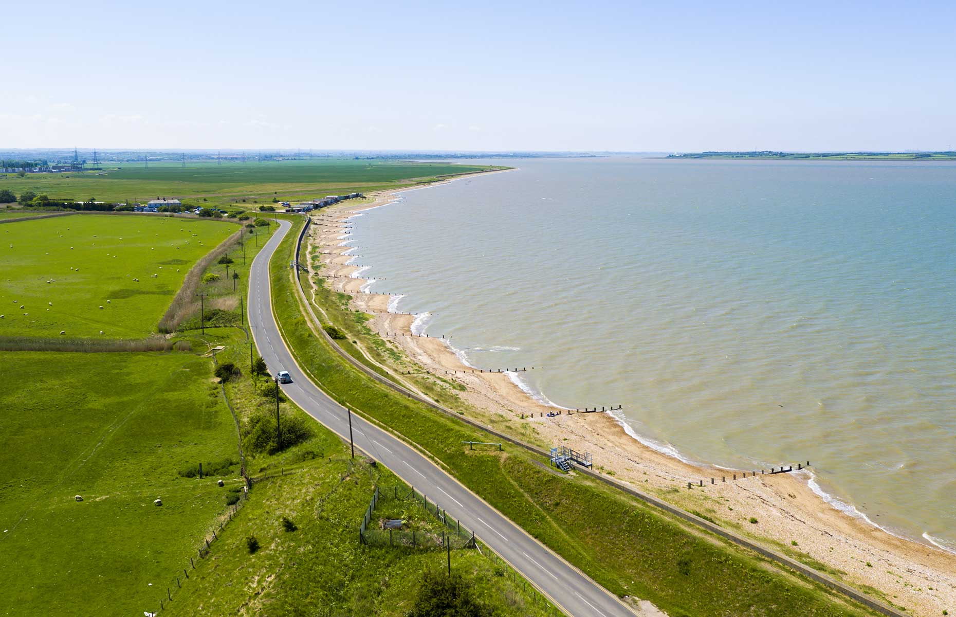 Aerial view of Seasalter, Kent (Image: Flyby Photography/Shutterstock)