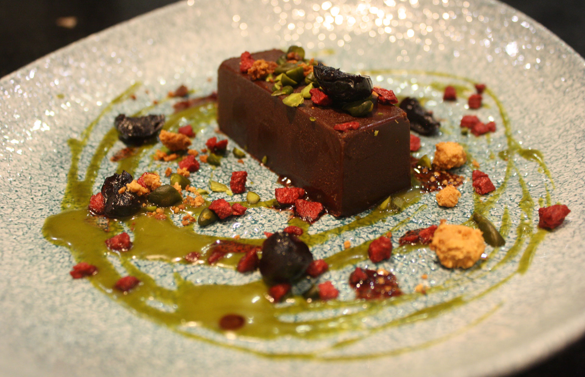 Chocolate cake at the Bicester Hotel and Spa