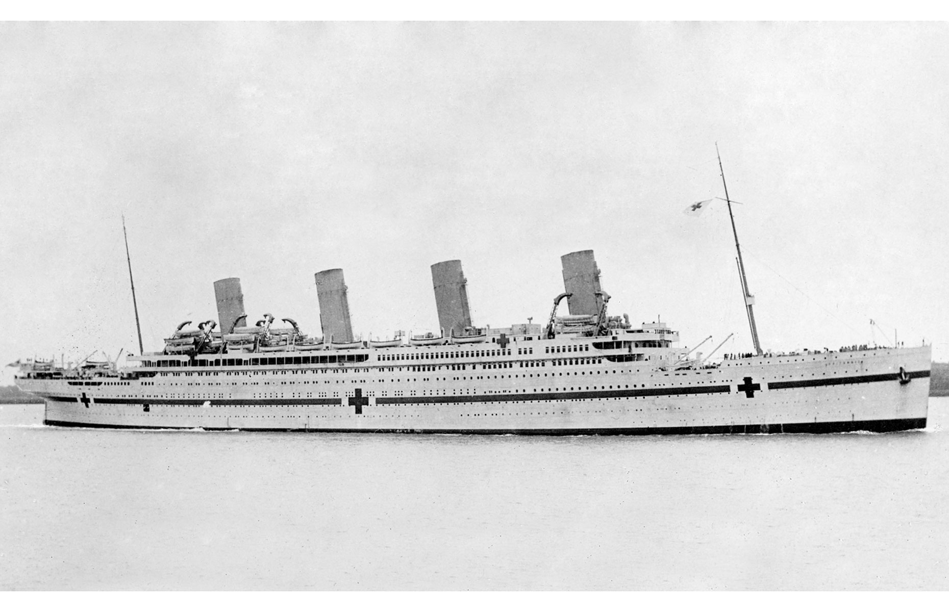 HMHS Britannic was repainted when she was re-purposed as a hospital ship (Image: Allan Green/Public domain/via Wikimedia Commons)
