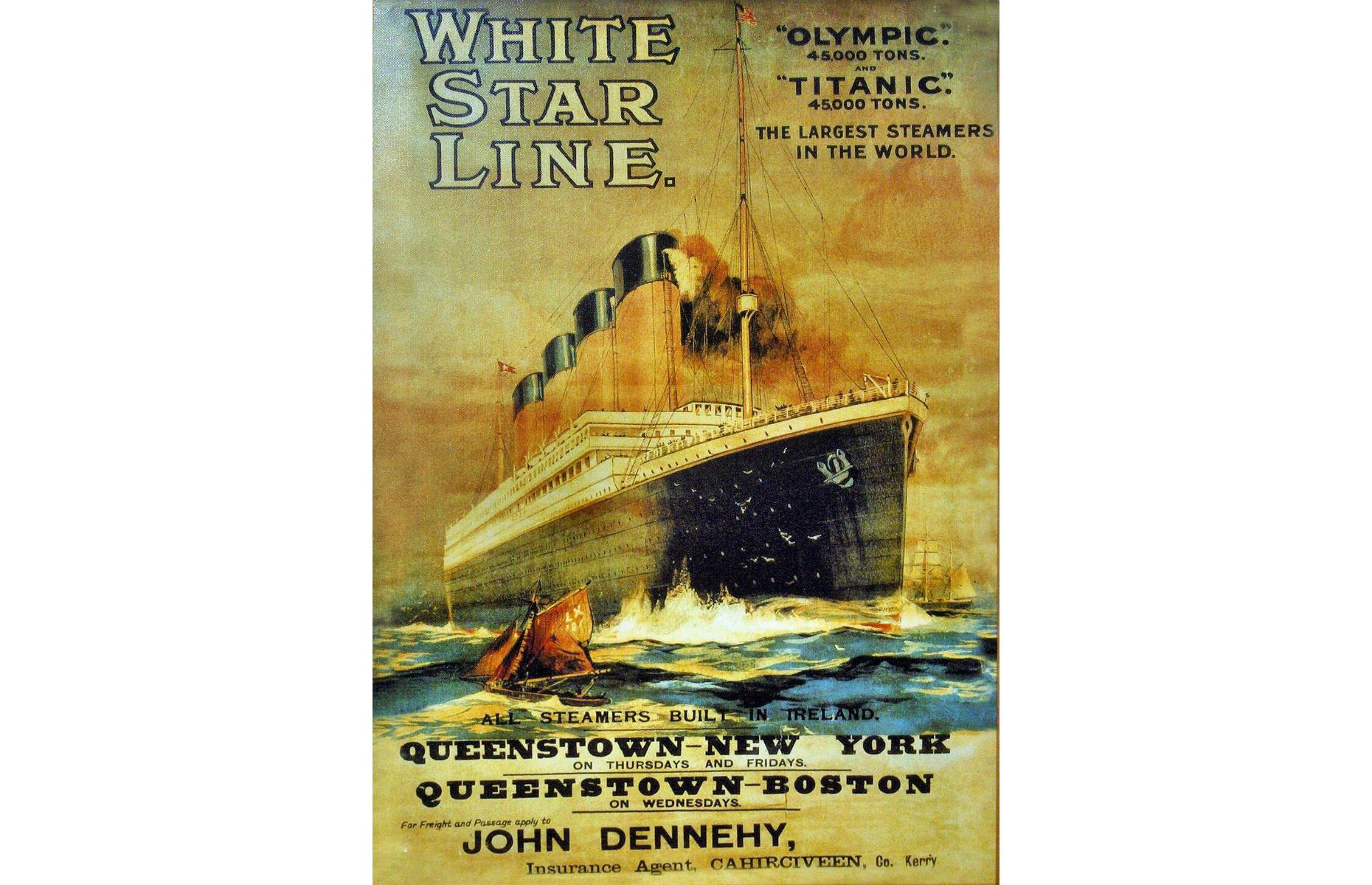 Poster advertising the RMS Olympic and the RMS Britannic (Image: Georges Jansoone (JoJan)/Public domain/via Wikimedia Commons)