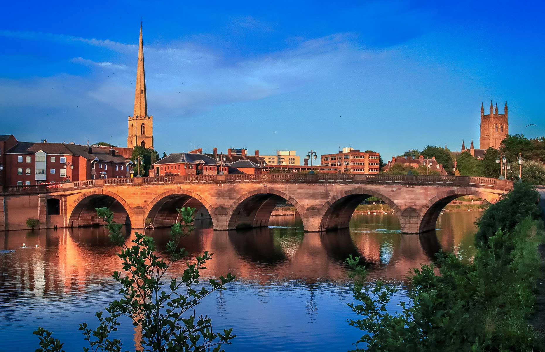 Worcester viewed from the River Severn (Image: Harry_W/Shutterstock)