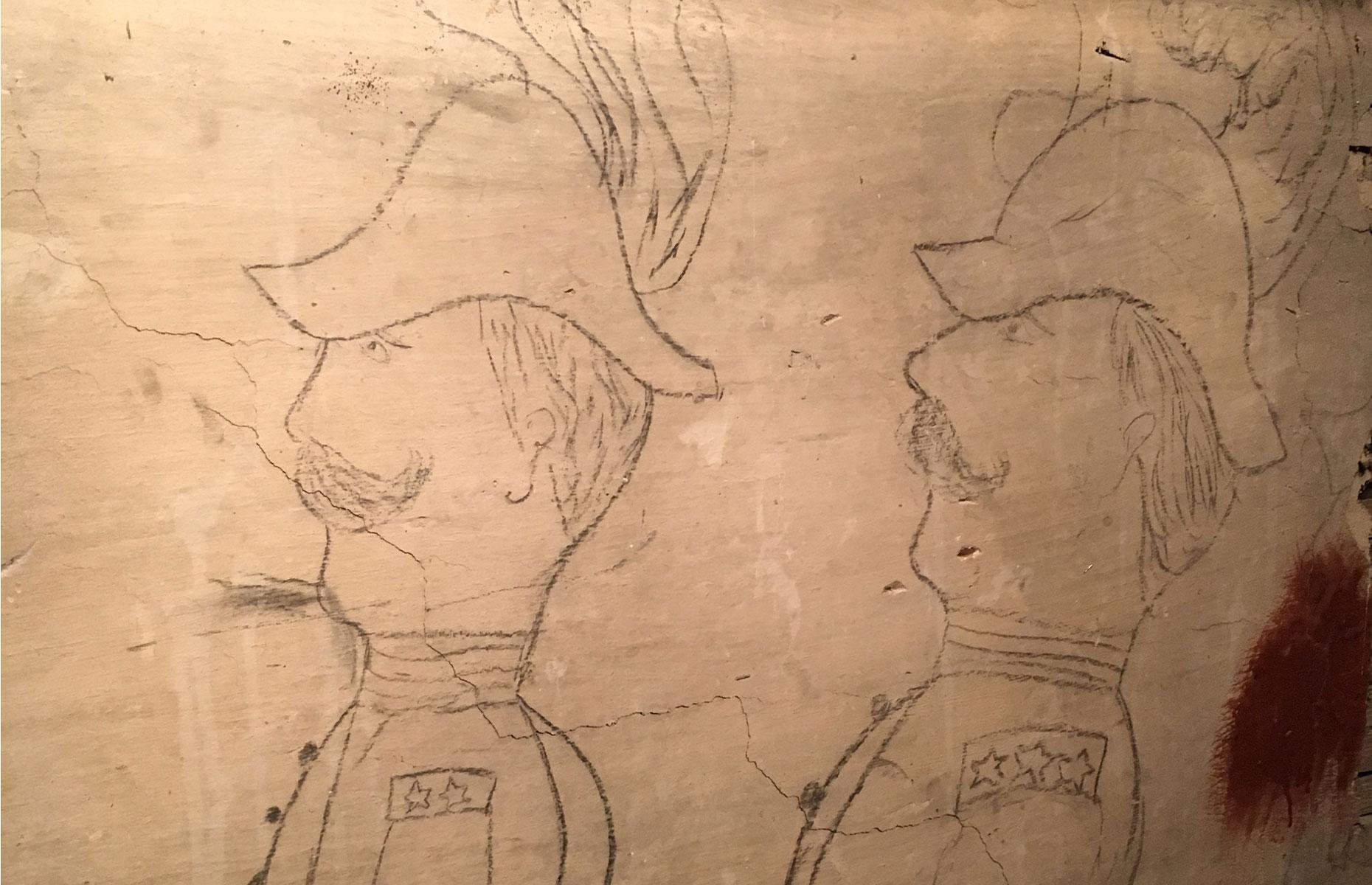 Civil War sketches, Puccini Restaurant, Maryland