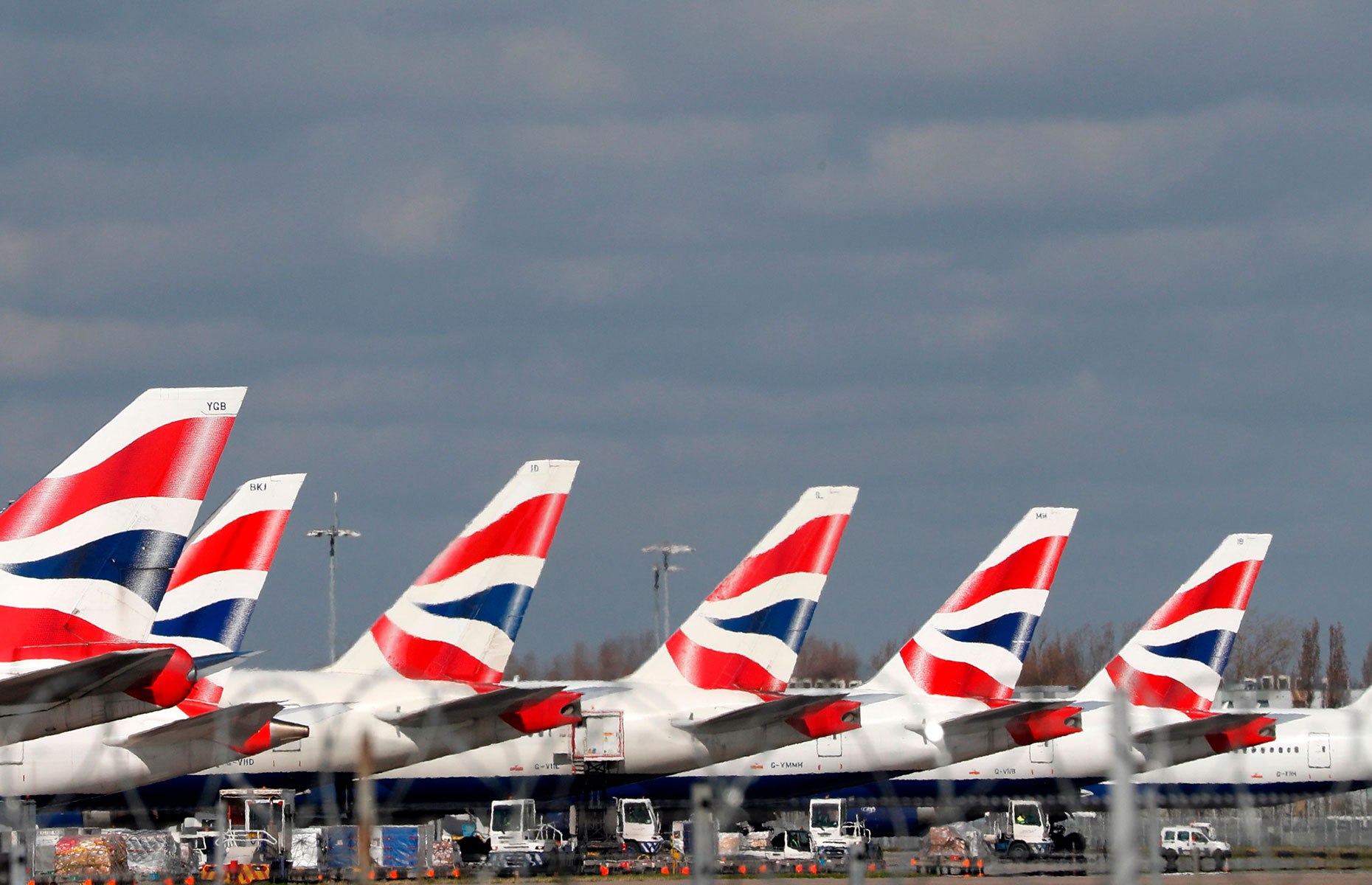 Grounded BA planes at Heathrow (Image: ADRIAN DENNIS/AFP via Getty Images)