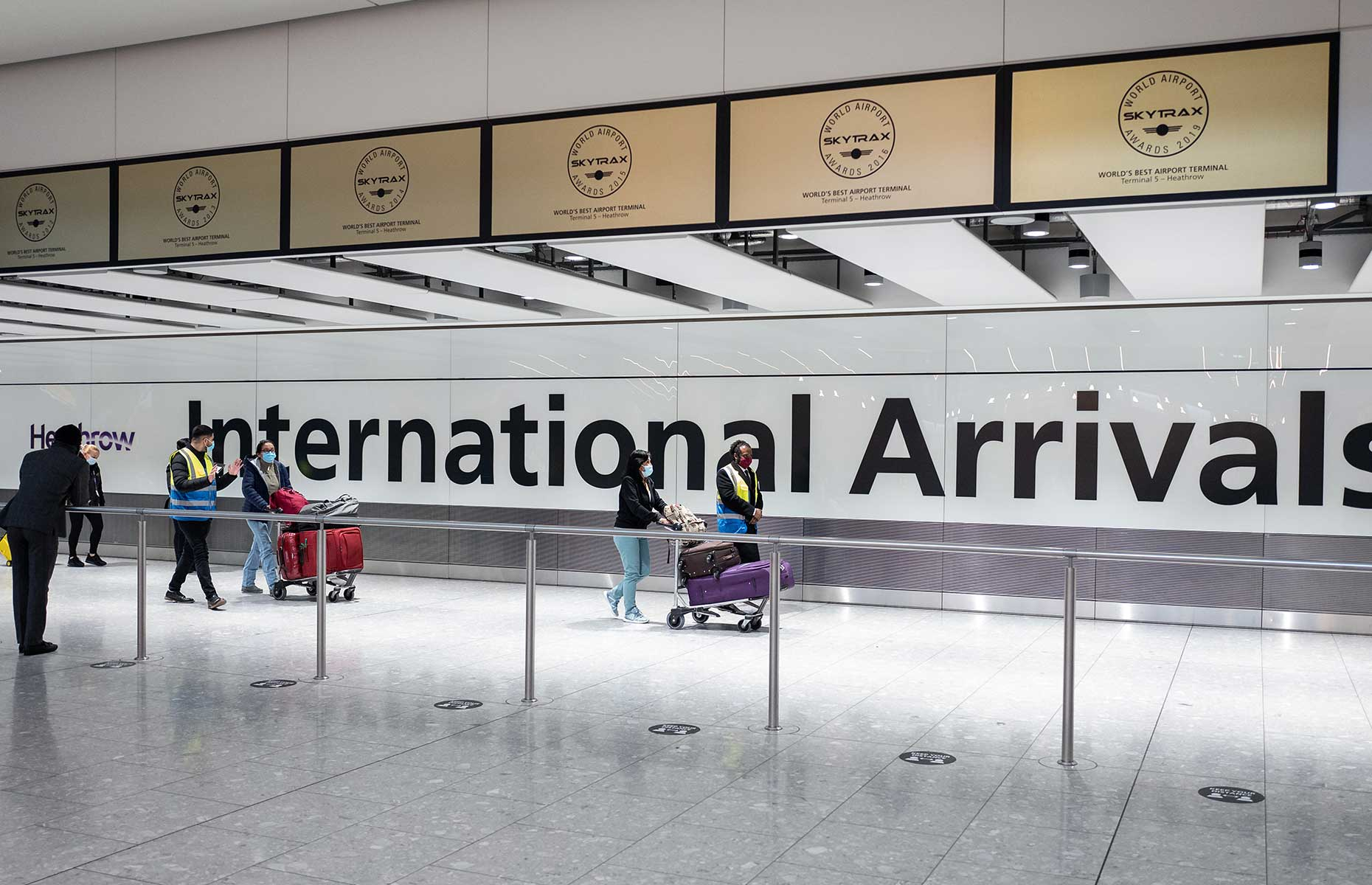 Heathrow International arrivals terminal 5 (Image: Leon Neal/Getty Images)