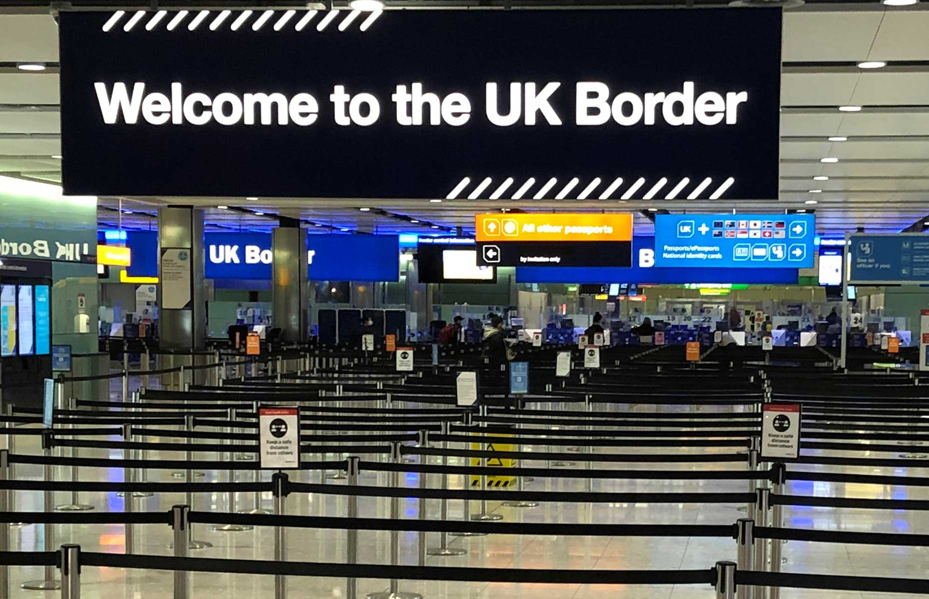 UK border at Heathrow (Image: BEN FATHERS/AFP via Getty Images)