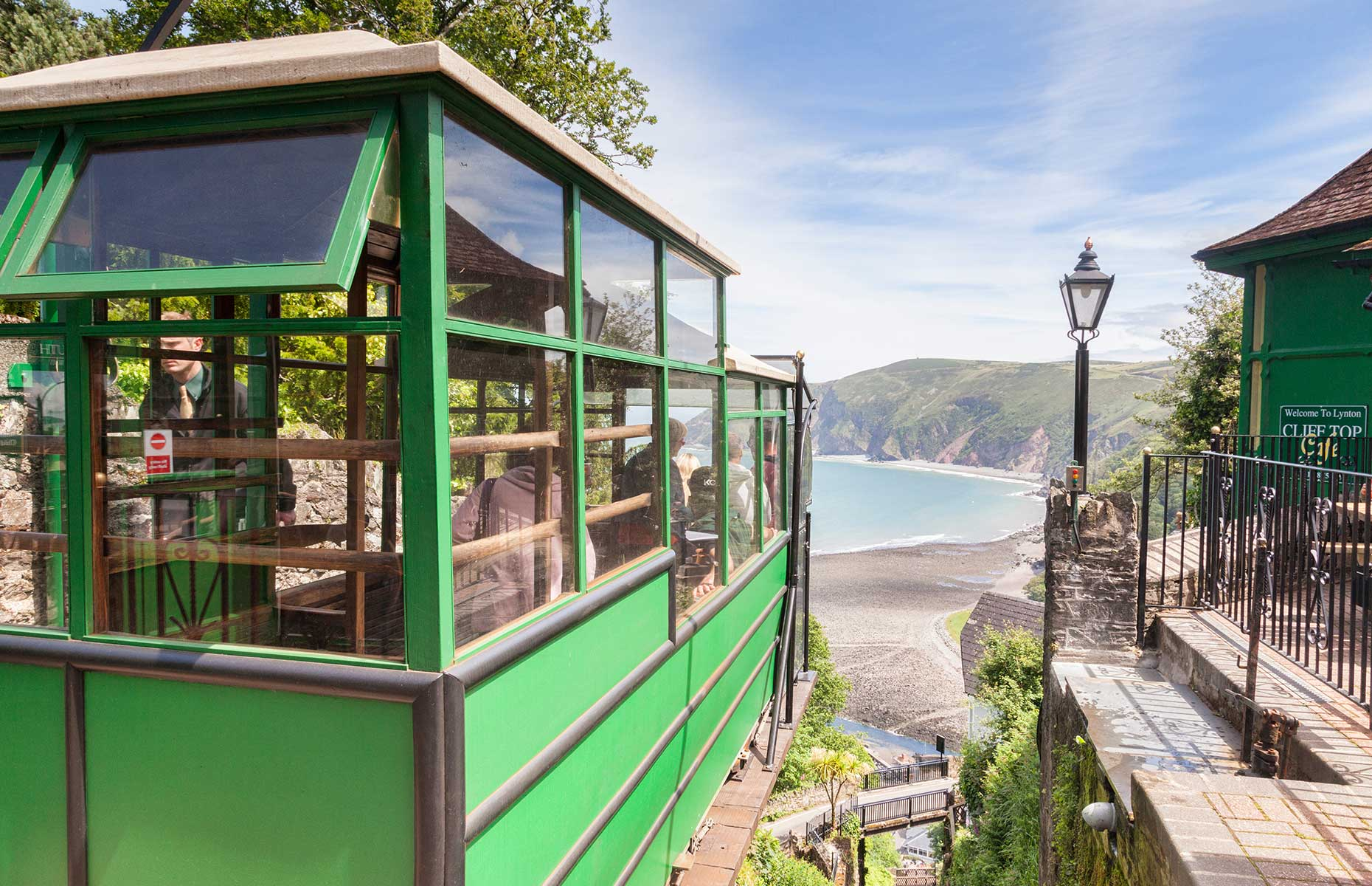 Lynton and Lynmouth railway looking down towards the harbour (travellight/Shutterstock)