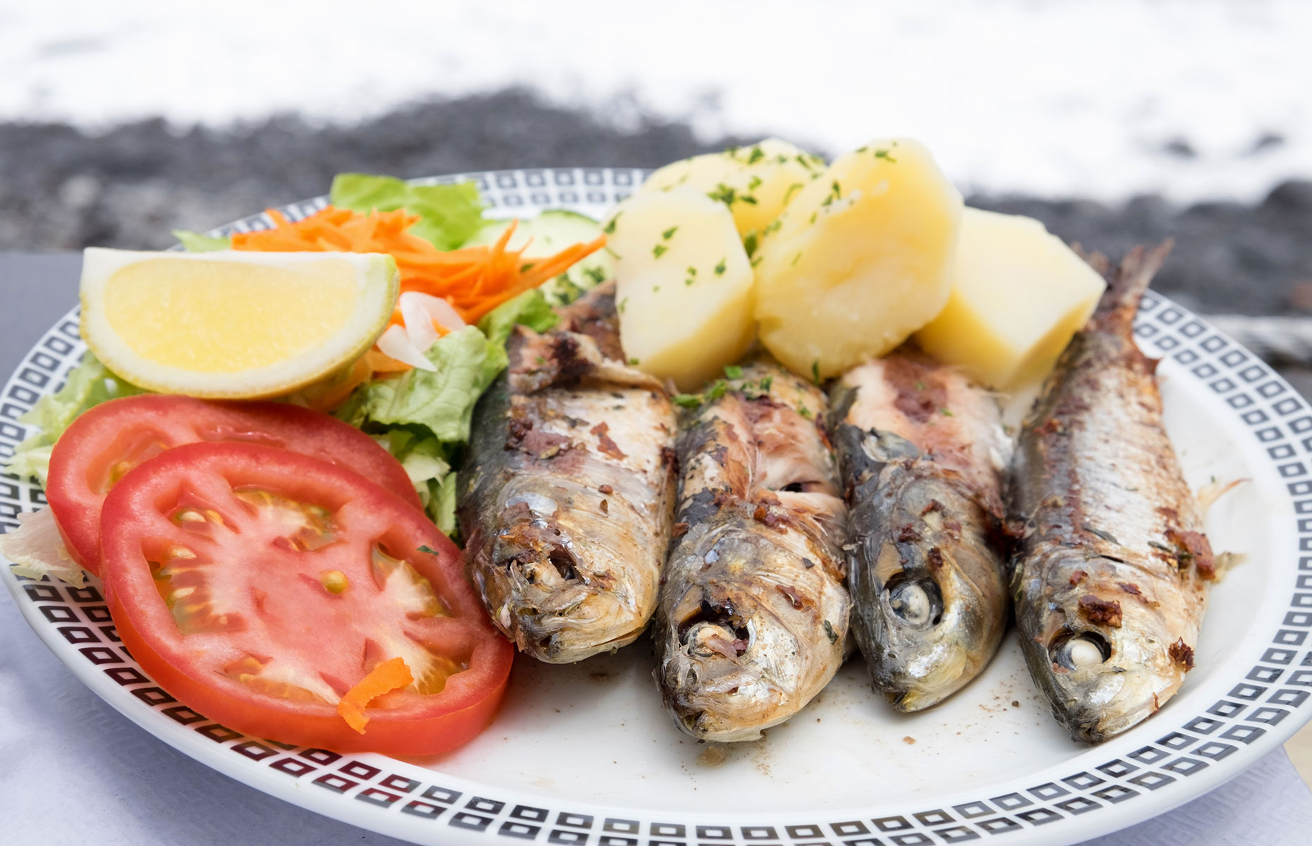 Traditional sardines and potatoes in Madeira (Image: Veronika Kovalenko/Shutterstock)