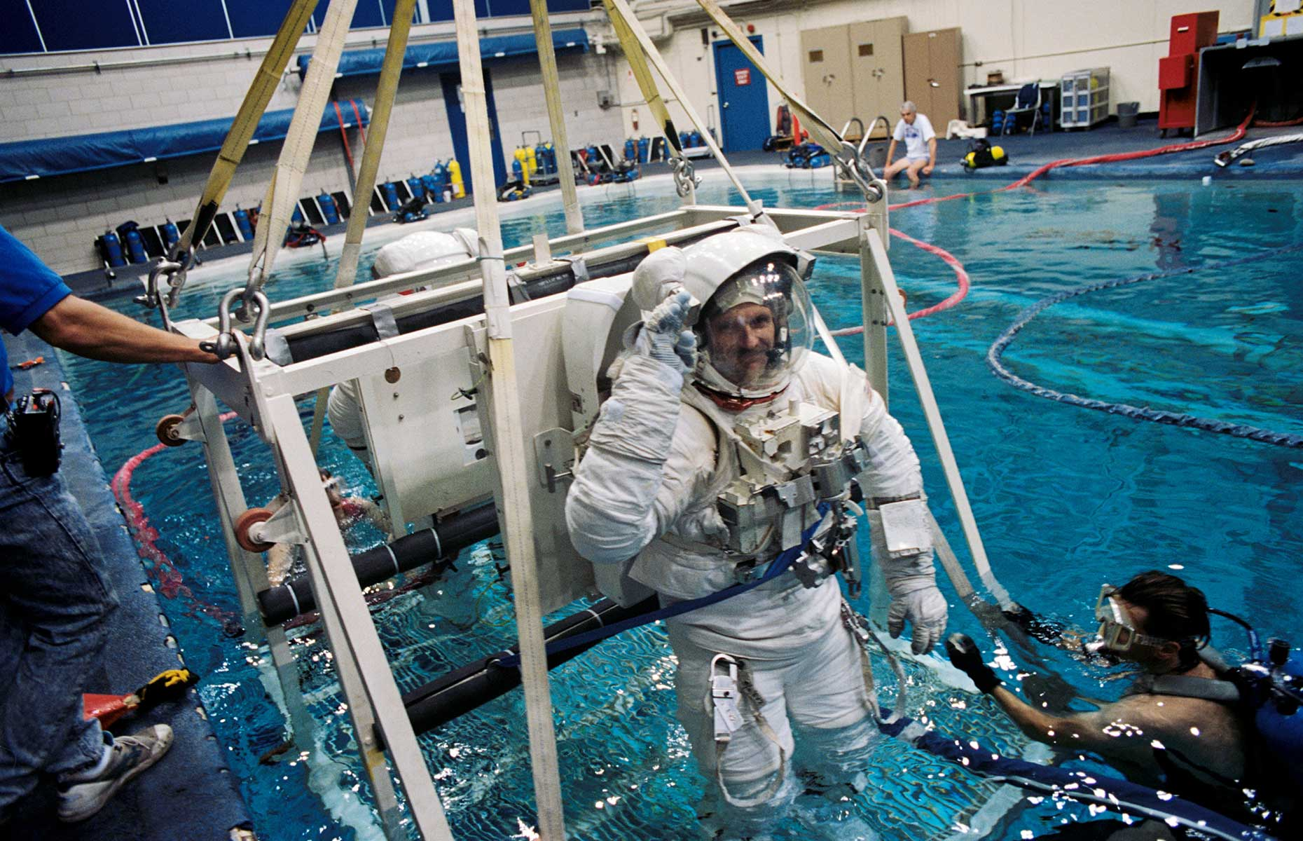 Steven L Smith during astronaut training (Image: NASA Johnson/Flickr/CC BY-NC 2.0)