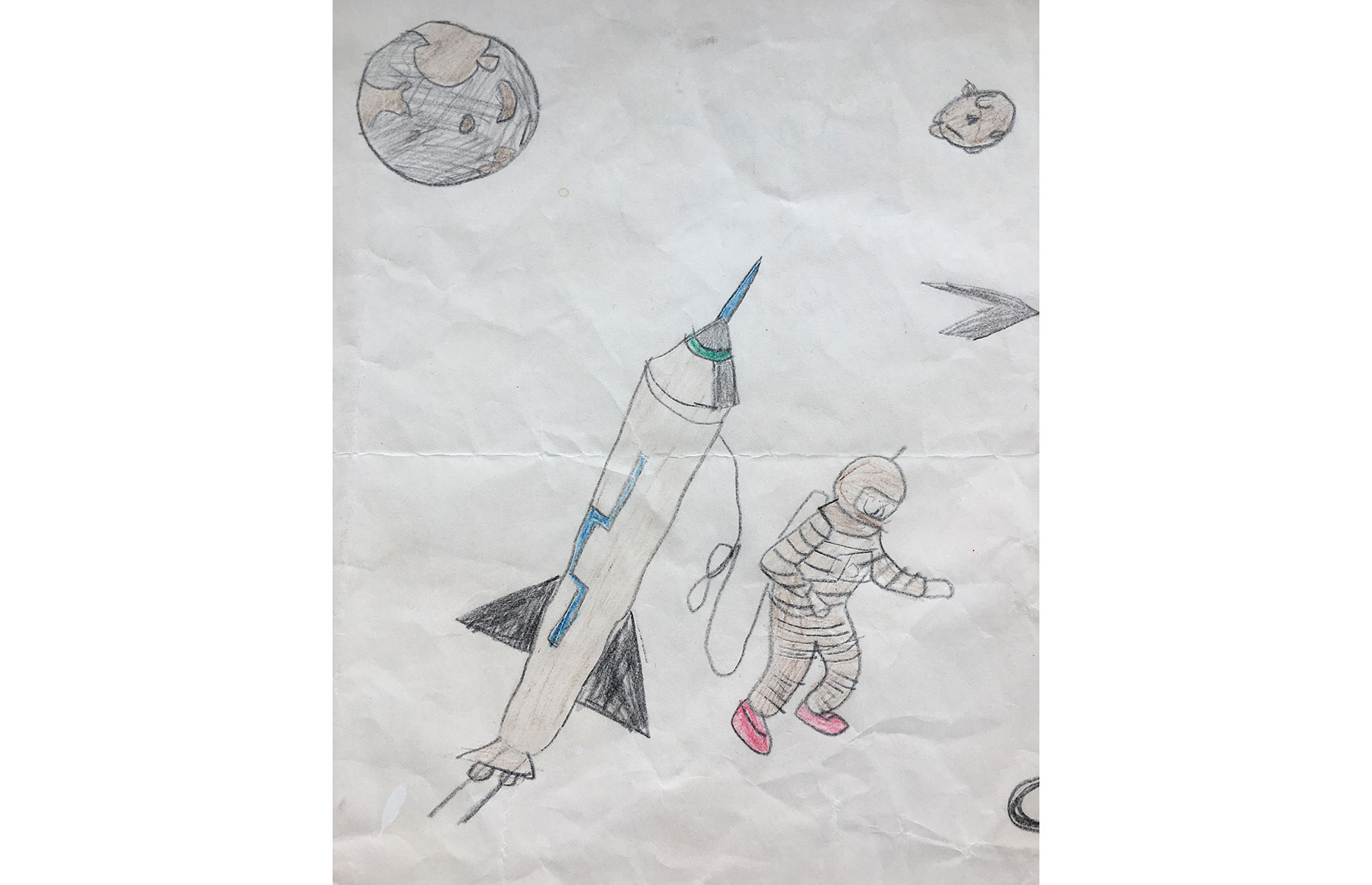 Astronaut Steve Smith's childhood drawing (Image: Courtesy of Steve Smith)