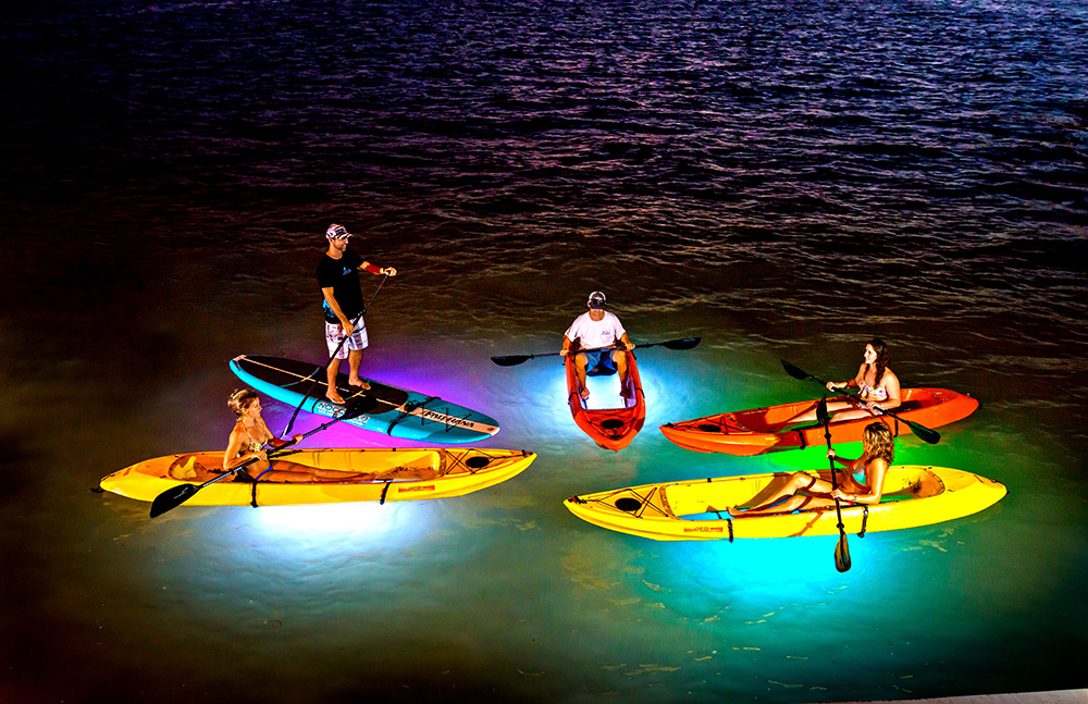 Night kayaking in Florida