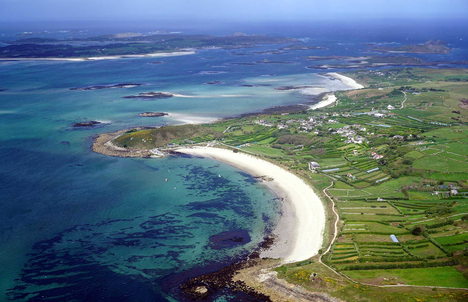 The island of St Martin's, Scilly Isles