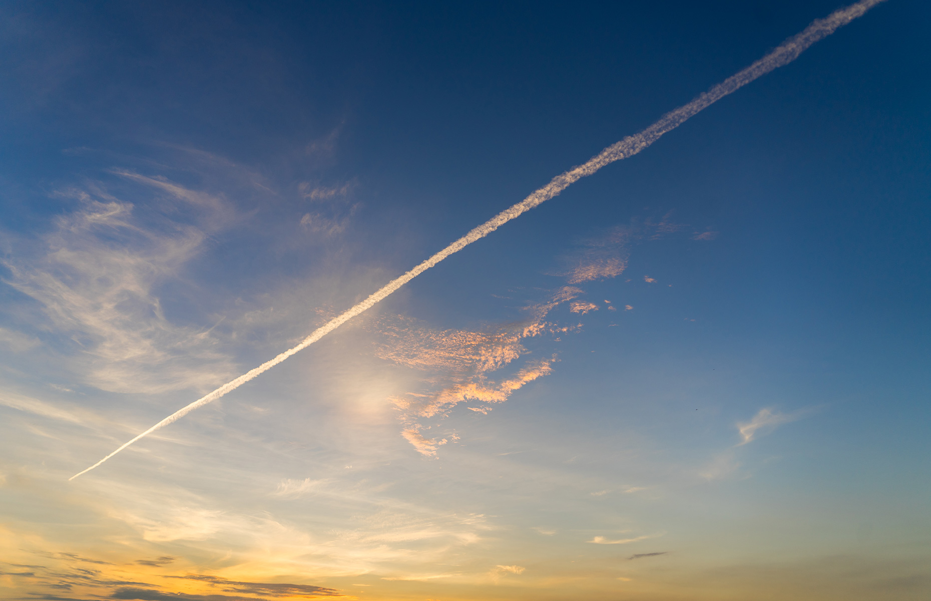 Chemical plane trails in the sky are also pollutants