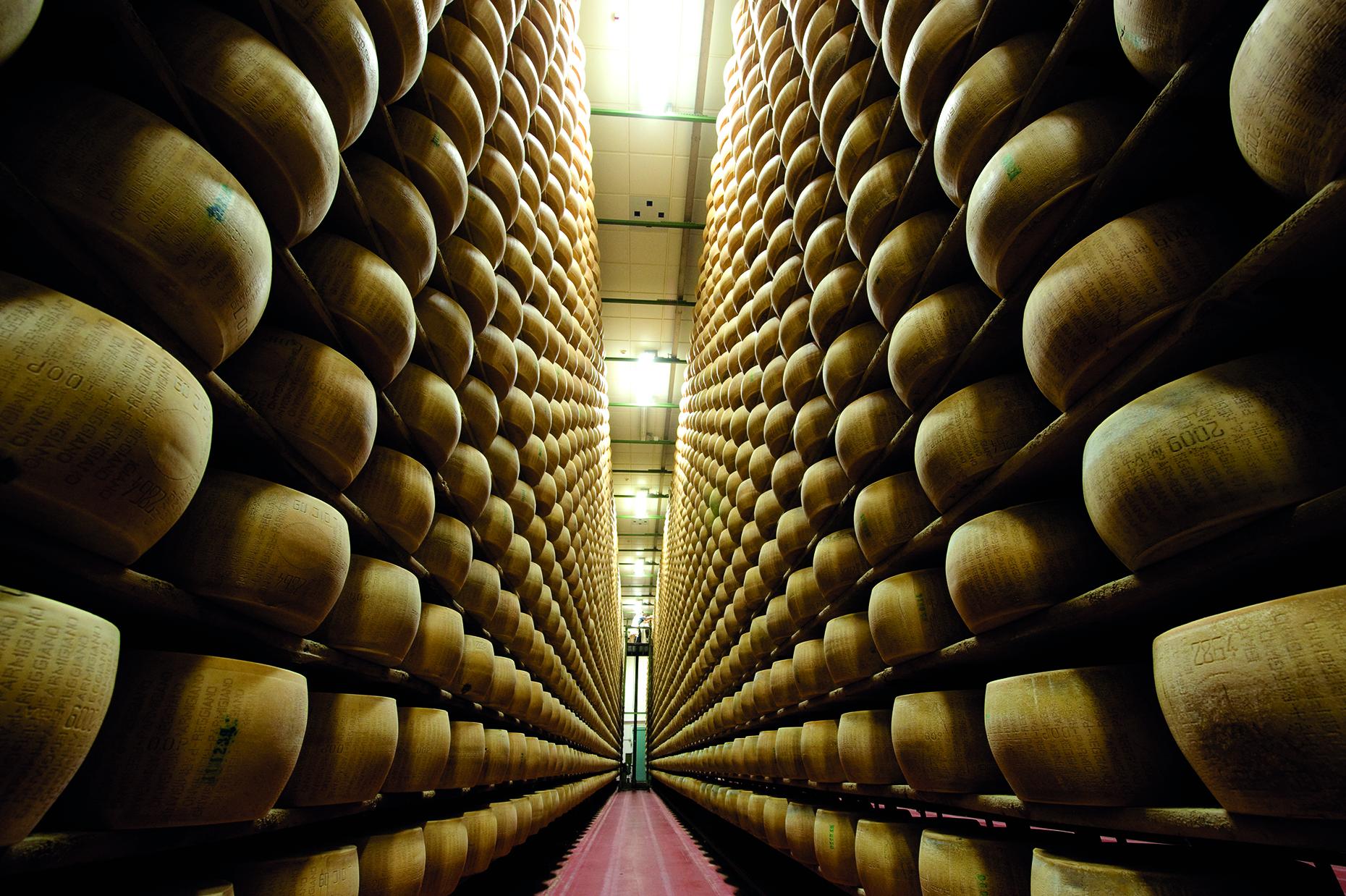 Parmigiano Reggiano aging room