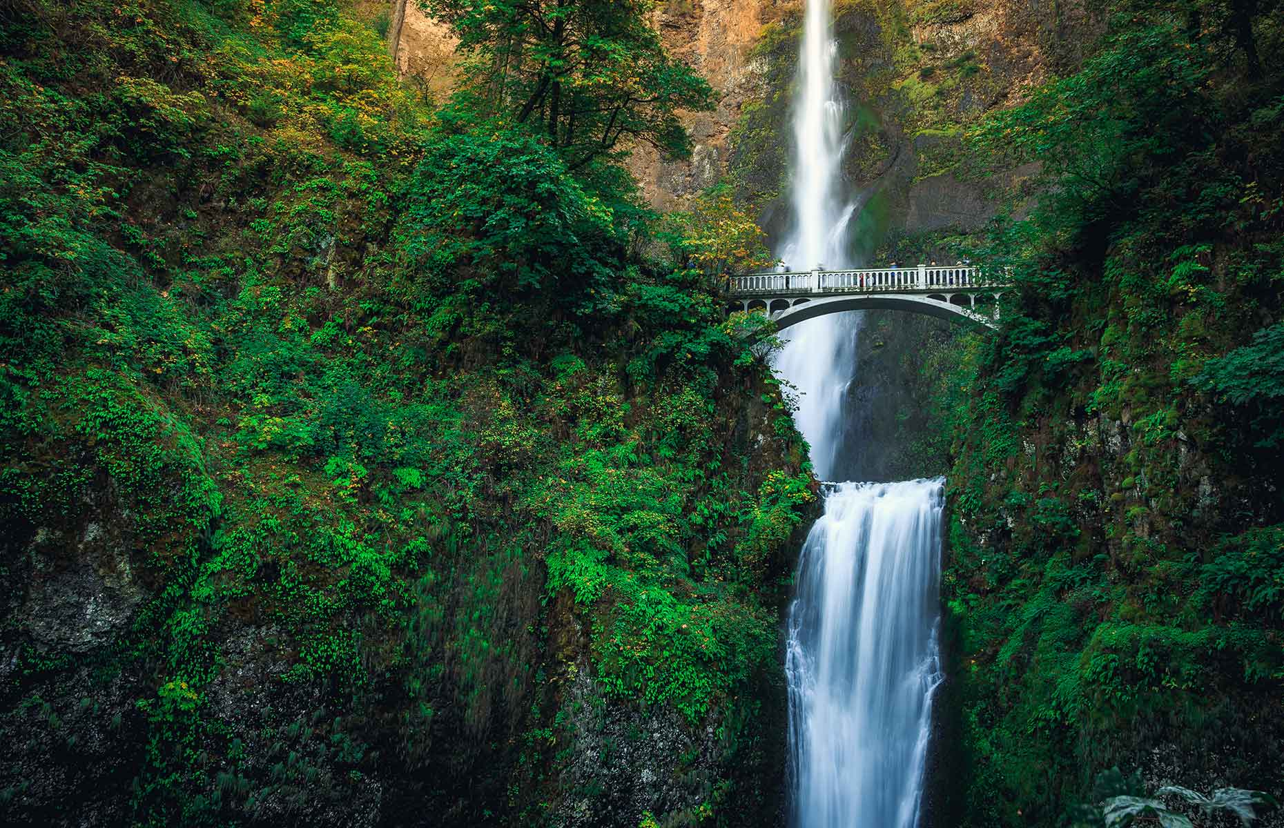 Multnomah Falls, near Portland, Oregon (Image: Stephen Moehle/Shutterstock)