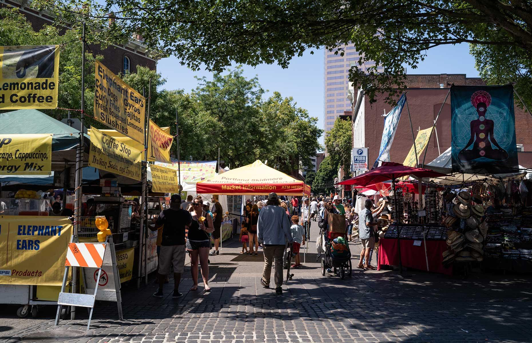Saturday market at the waterfront, Portland, Oregon (Image: Justin Katigbak/Travel Portland)