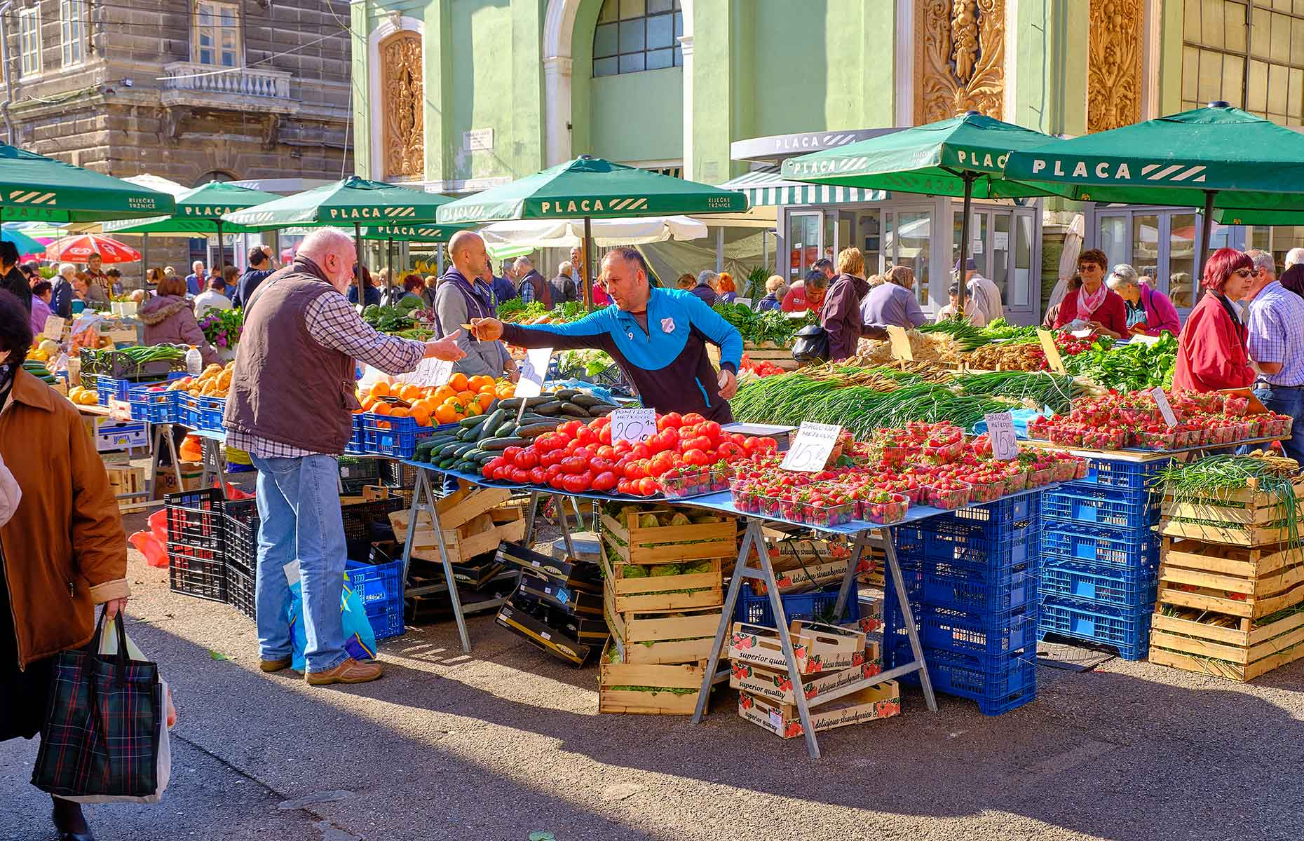 Market in Rijeka, Croatia (Image: meandering images/Shutterstock)