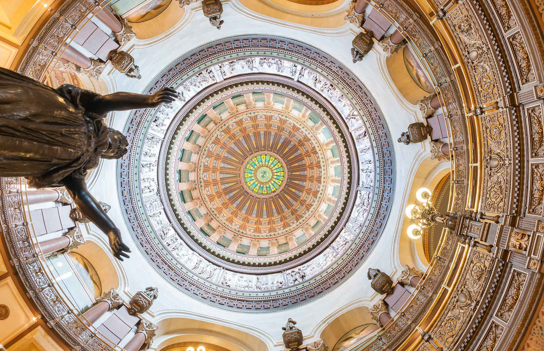 Dome at the State Capitol, Springfield, Illinois