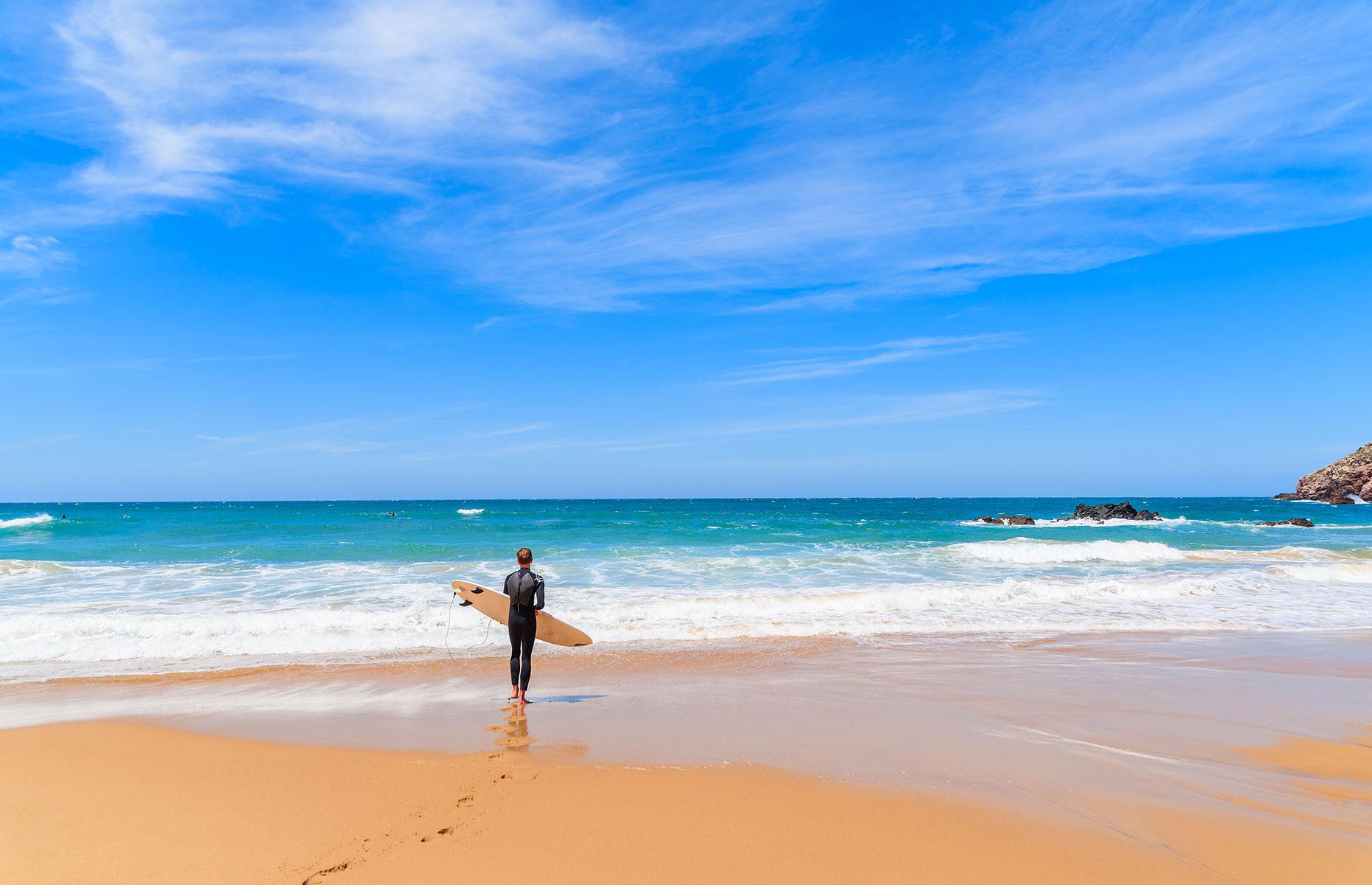 Amado beach, Sagres, Portugal