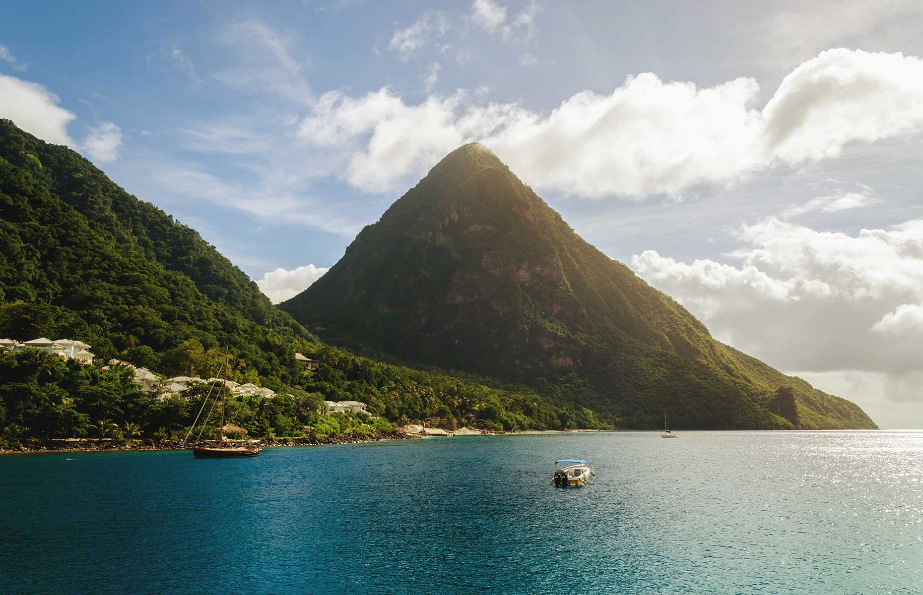 The Pitons, Saint Lucia (Image: Claudio Trigueros/Unsplash)