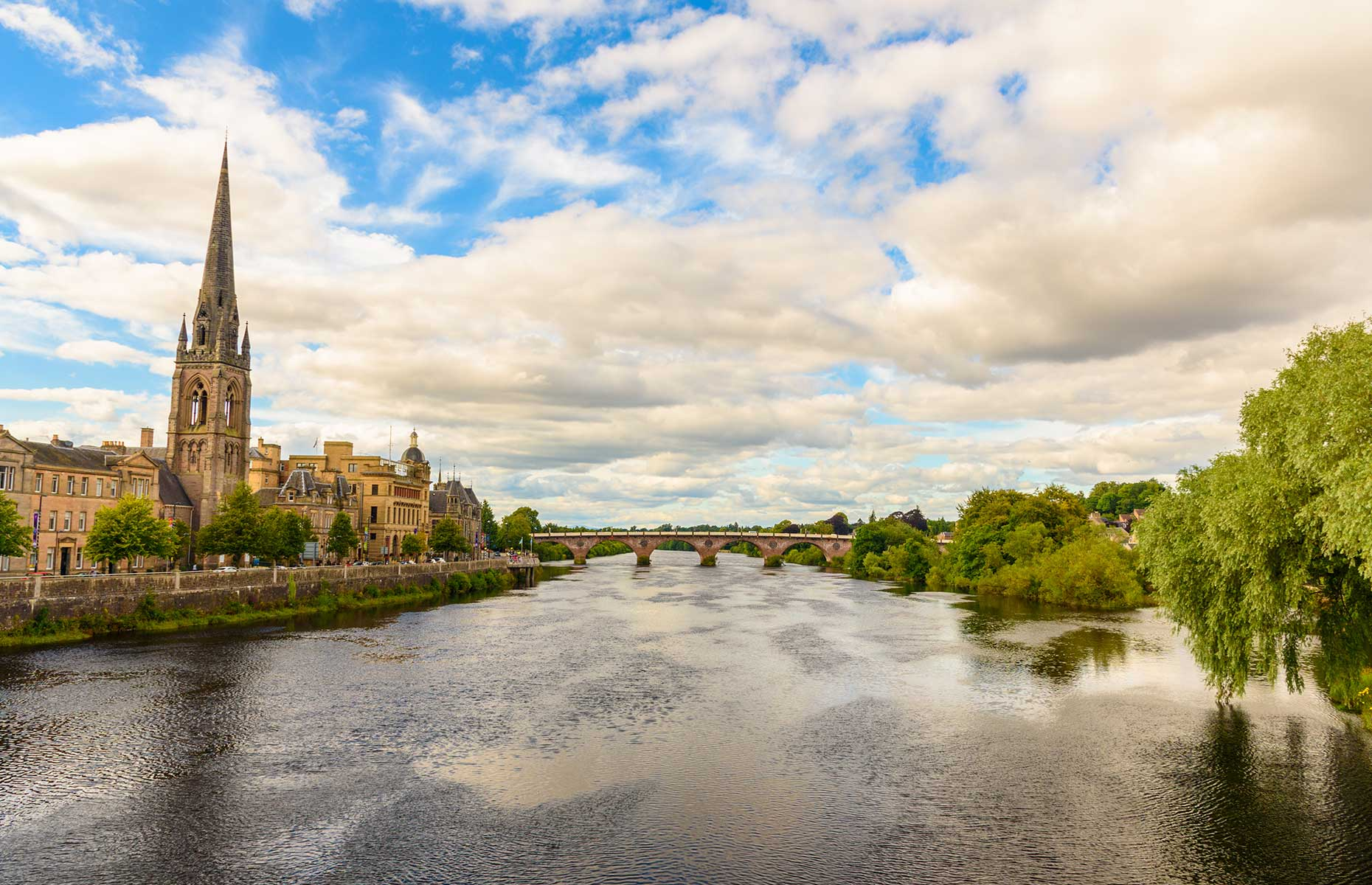 City of Perth, Scotland, a stop on the Heart 200 road trip route (Image: Marco Bicci/Shutterstock)