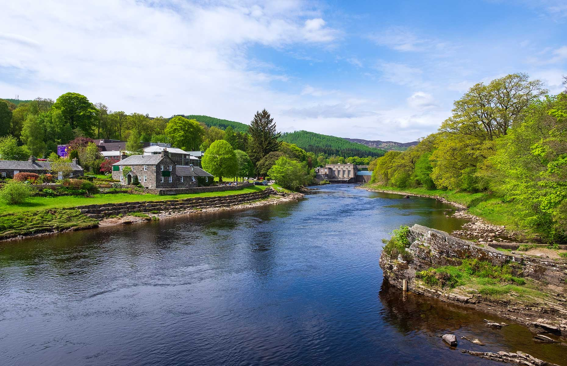 Pitlochry and it's hydroelectric dam (Image: Harald Lueder/Shutterstock)